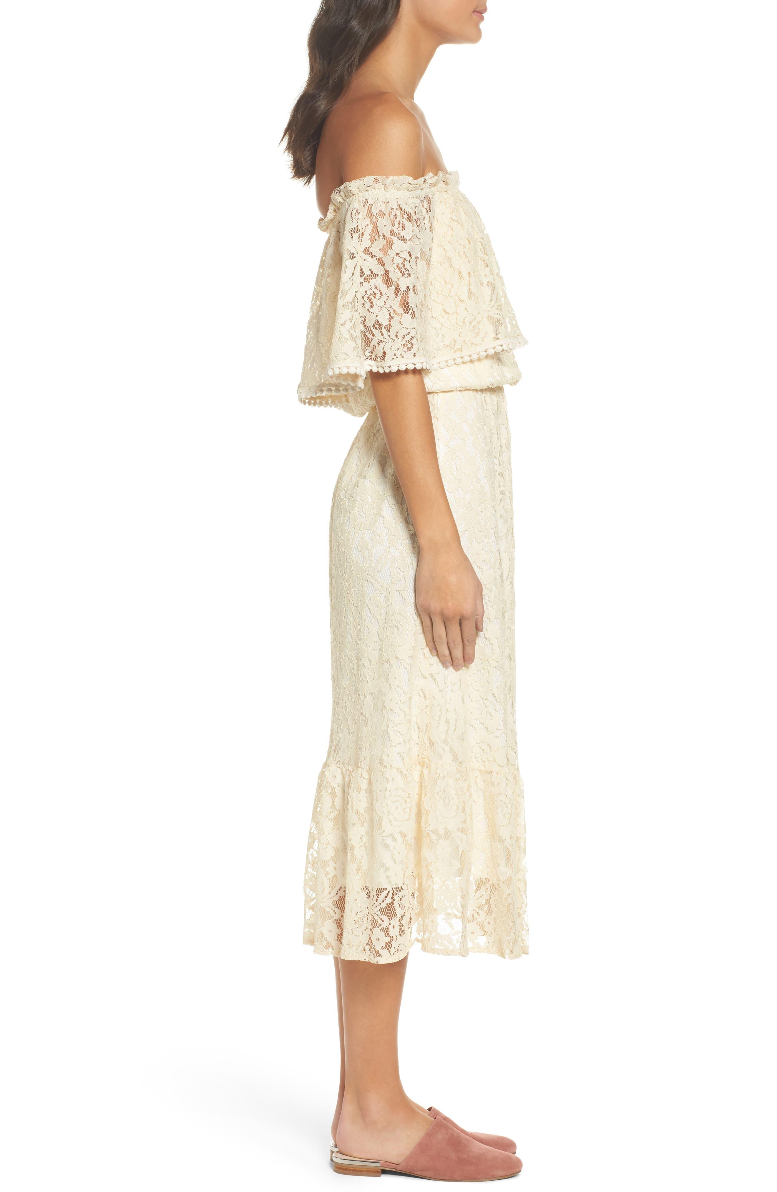 Popover Midi Dress,                             Alternate thumbnail 3, color,                             MELODY