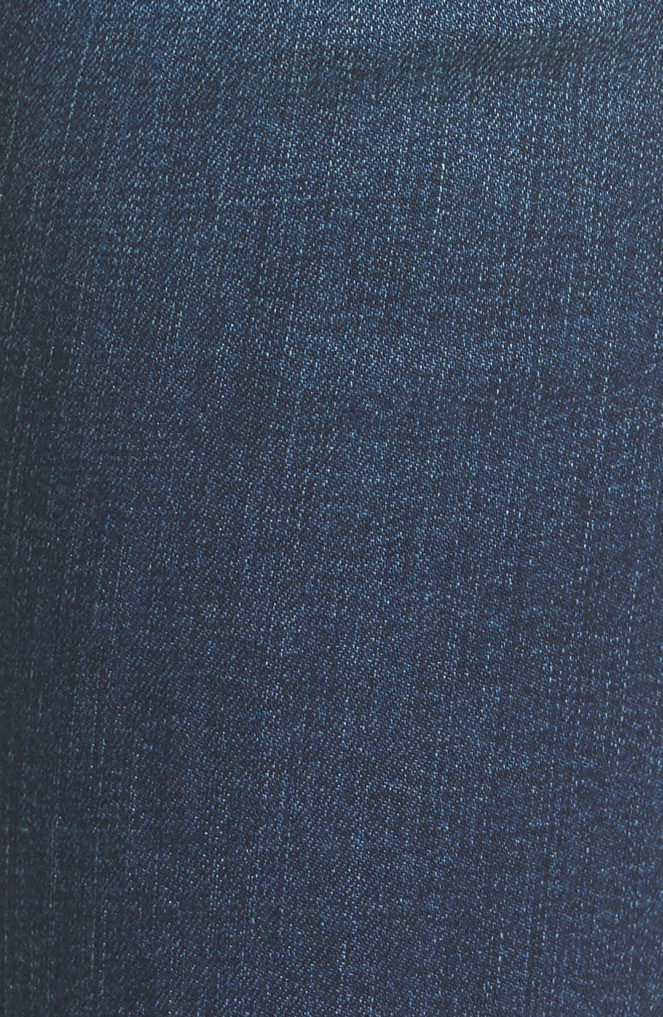 Ellie Step Hem Skinny Jeans,                             Alternate thumbnail 5, color,                             400