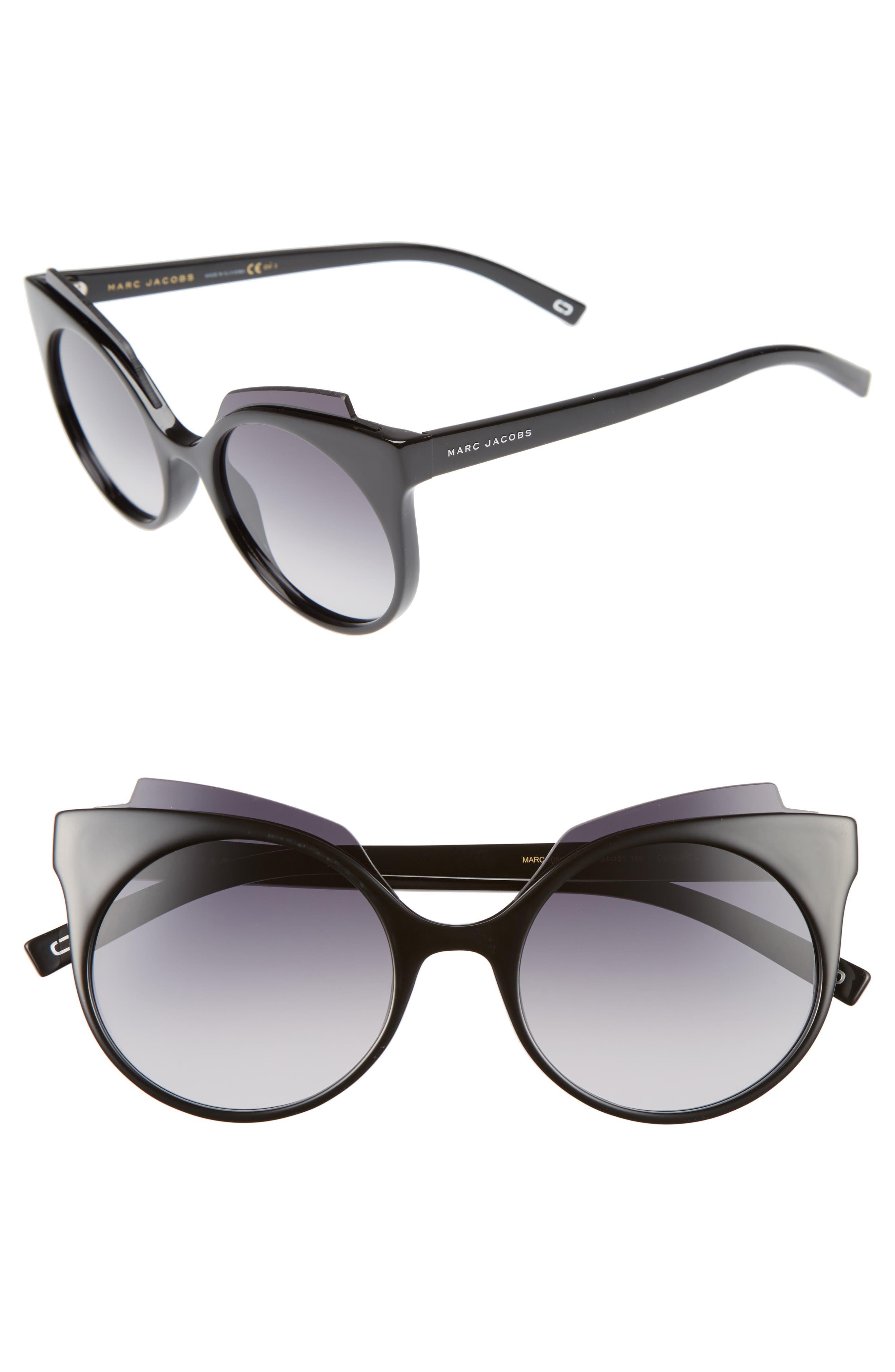 53mm Oversized Sunglasses,                             Alternate thumbnail 2, color,                             001