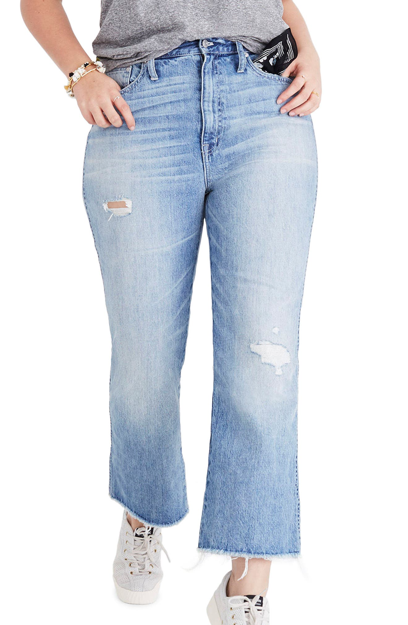 Rigid Crop Demi Boot Jeans,                             Main thumbnail 1, color,                             ROWES