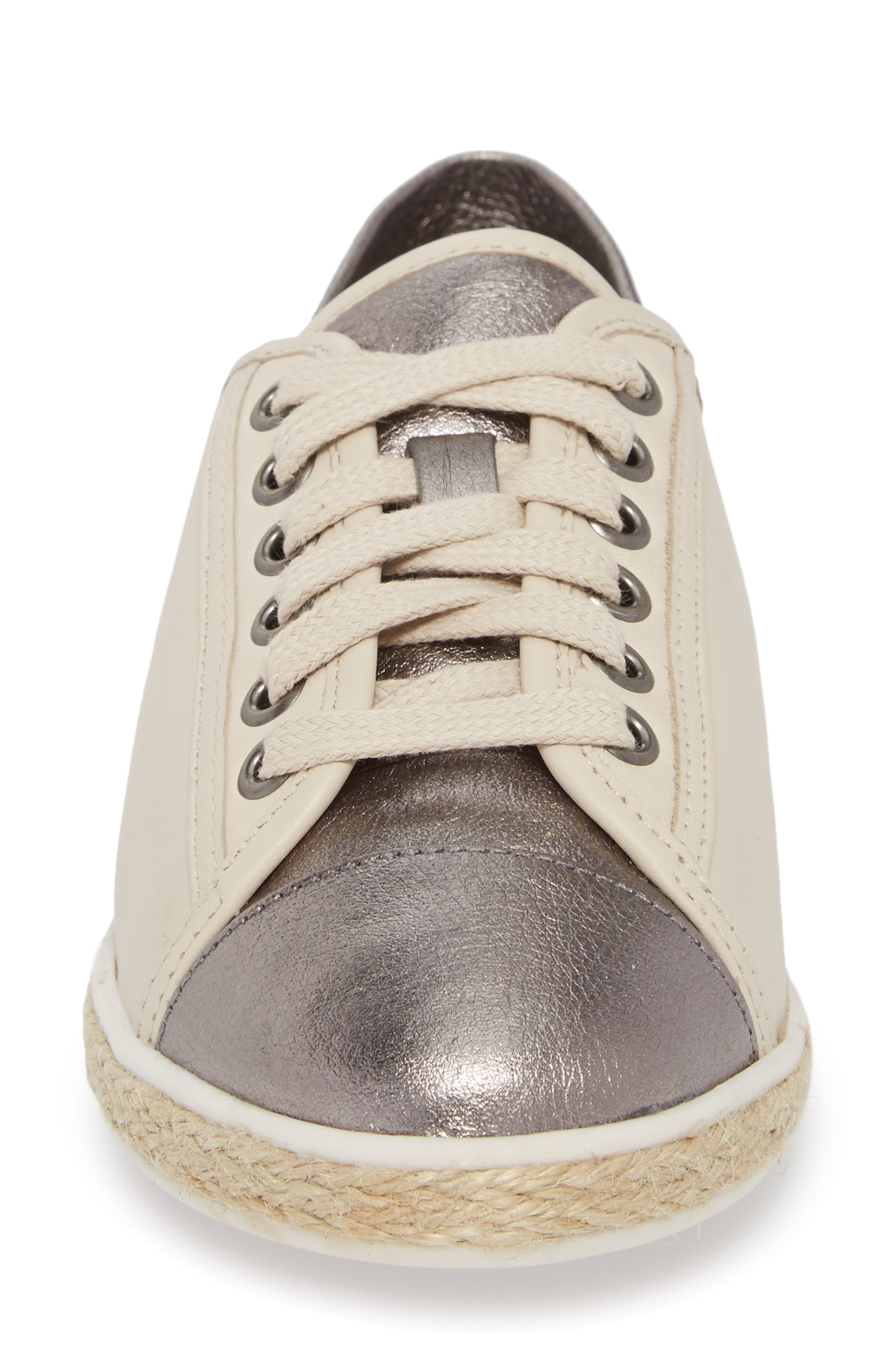 Buddy Convertible Heel Sneaker,                             Alternate thumbnail 4, color,                             GUNMETAL LEATHER