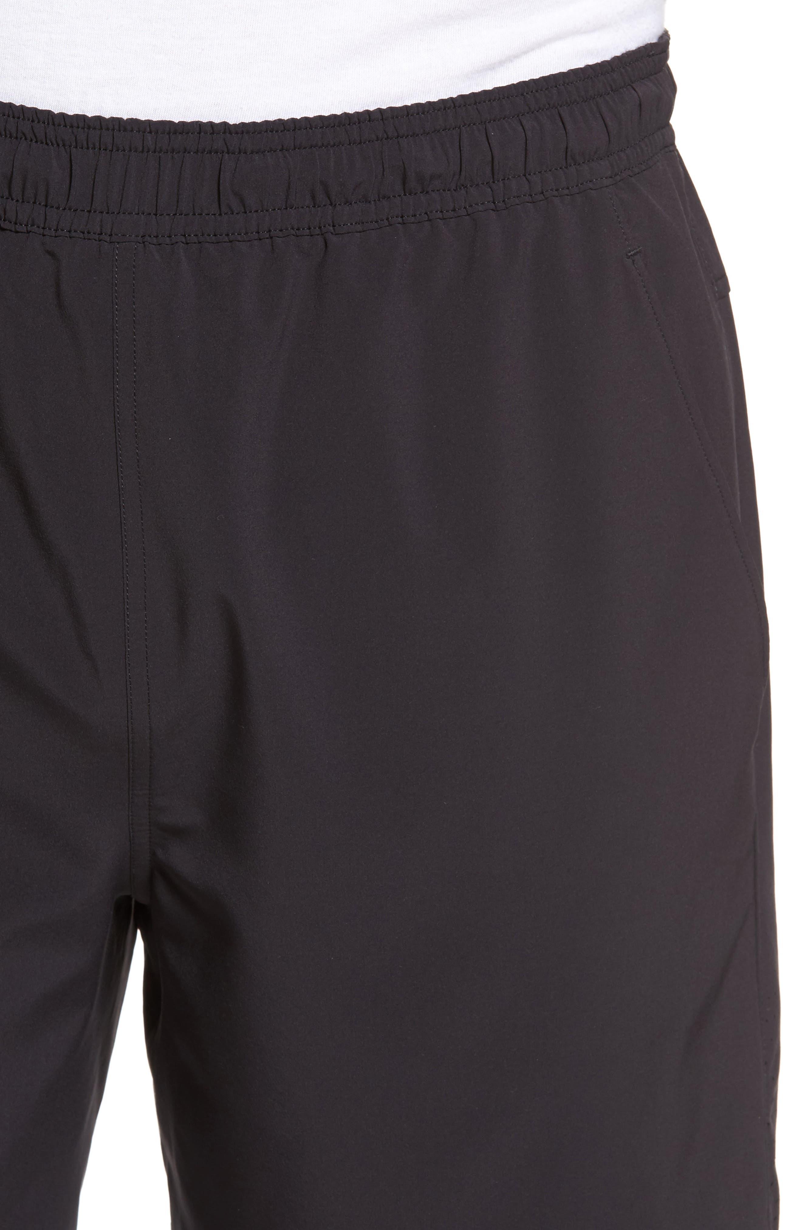 Graphite Core Athletic Shorts,                             Alternate thumbnail 4, color,                             BLACK