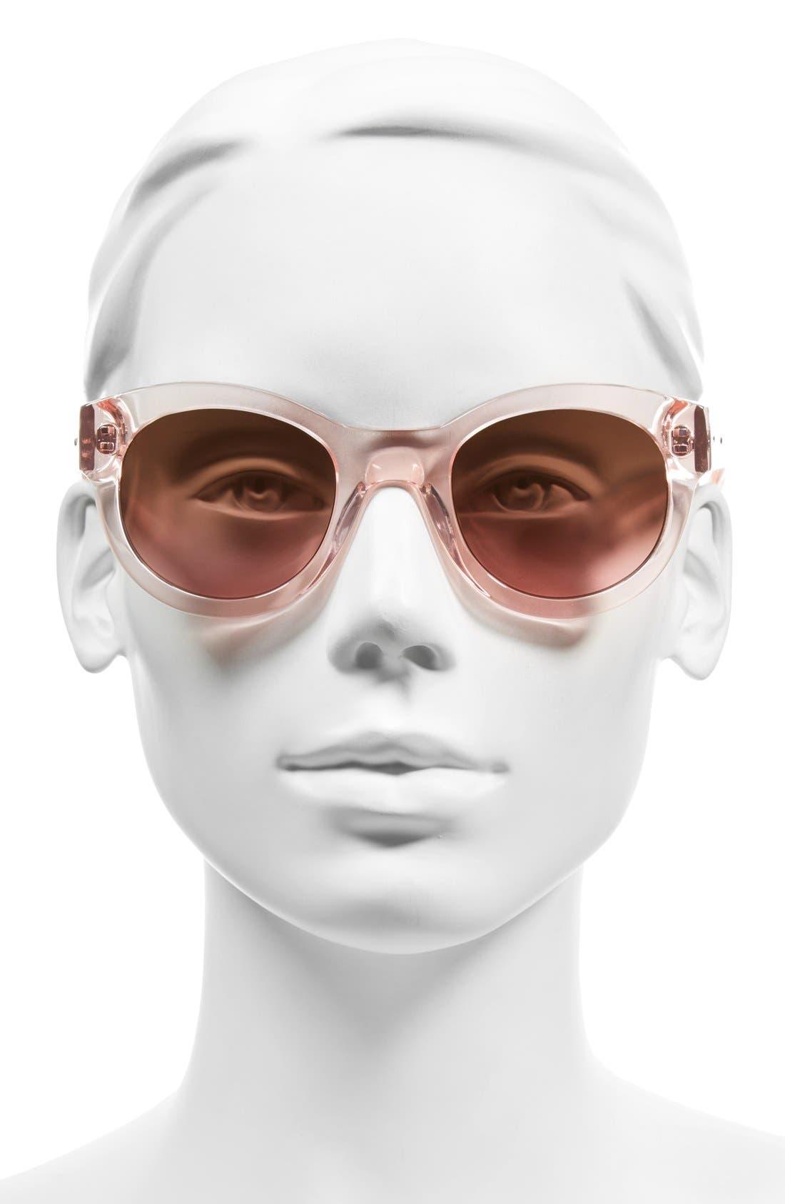 'The Zoe/S' 49mm Sunglasses,                             Alternate thumbnail 2, color,                             650