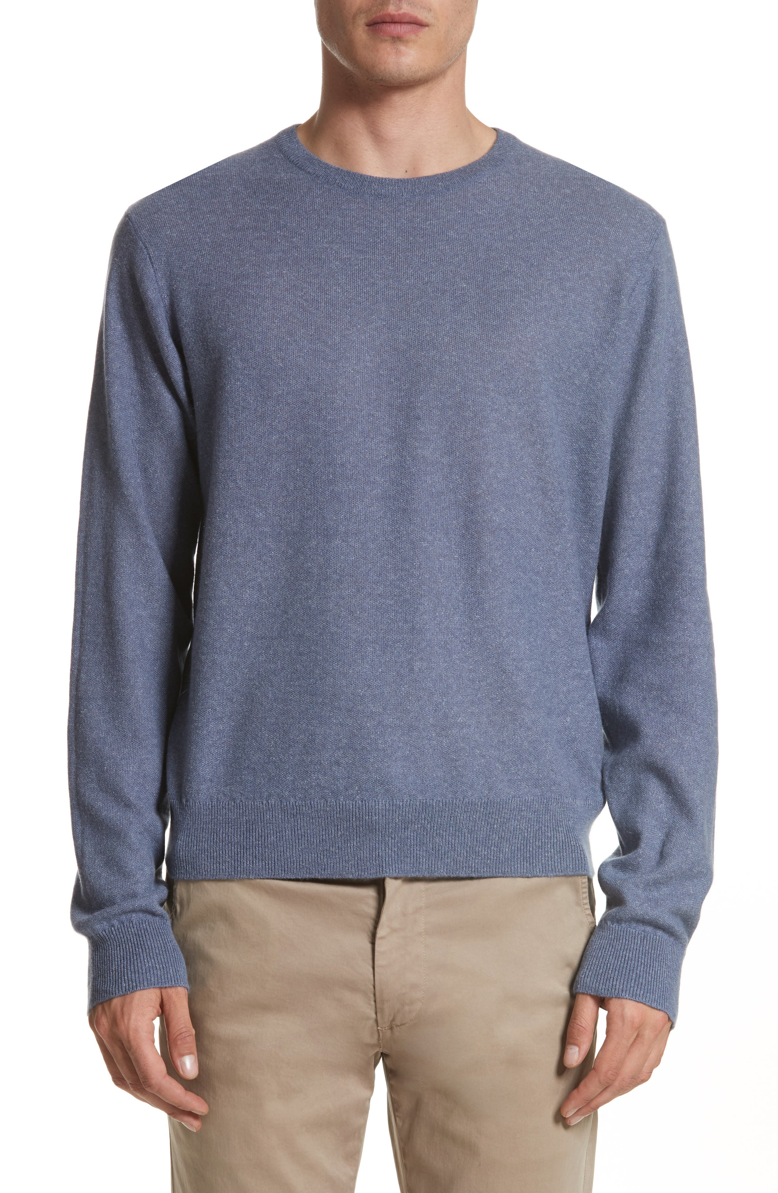 Cashmere & Linen Crewneck Sweater,                             Main thumbnail 1, color,                             475
