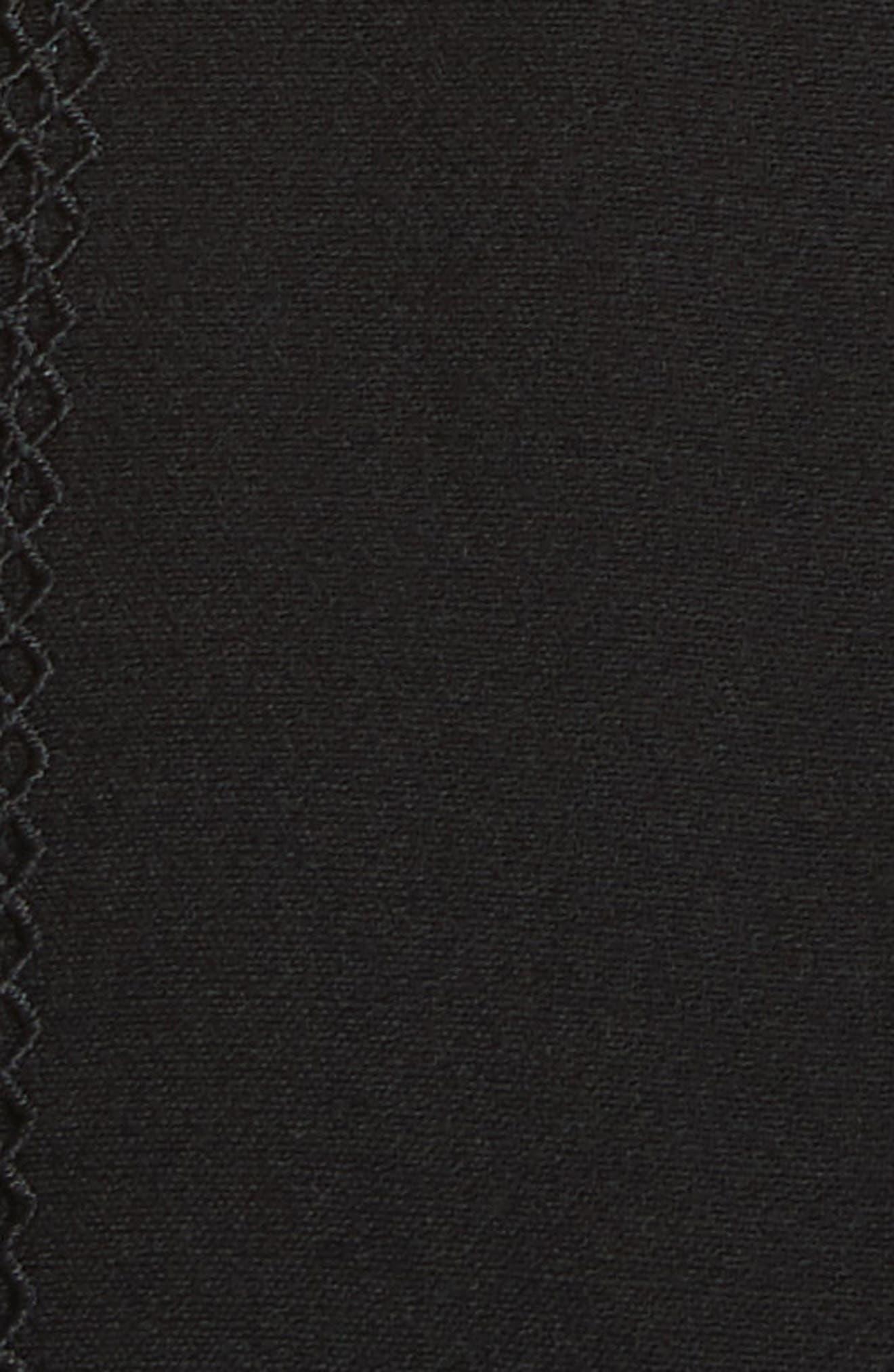Trimmed Overlay Minidress,                             Alternate thumbnail 5, color,                             001