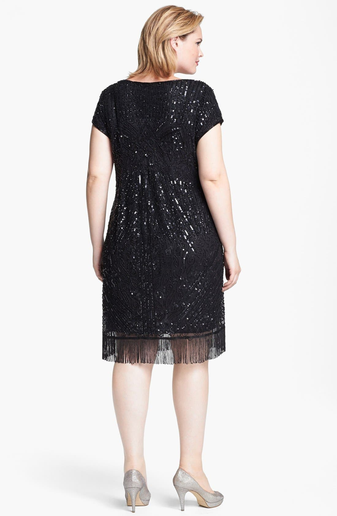 Embellished Dress,                             Alternate thumbnail 3, color,                             001
