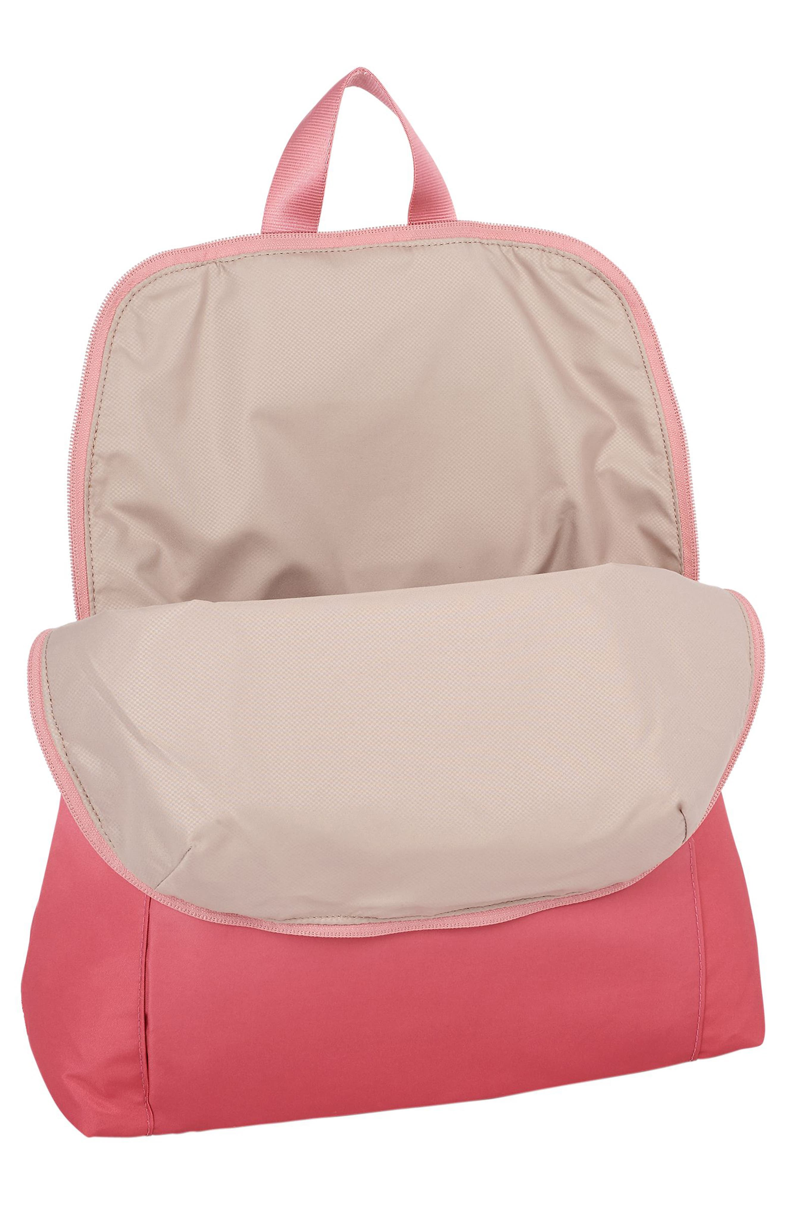 Voyageur - Just in Case Nylon Travel Backpack,                             Alternate thumbnail 3, color,                             PINK OMBRE