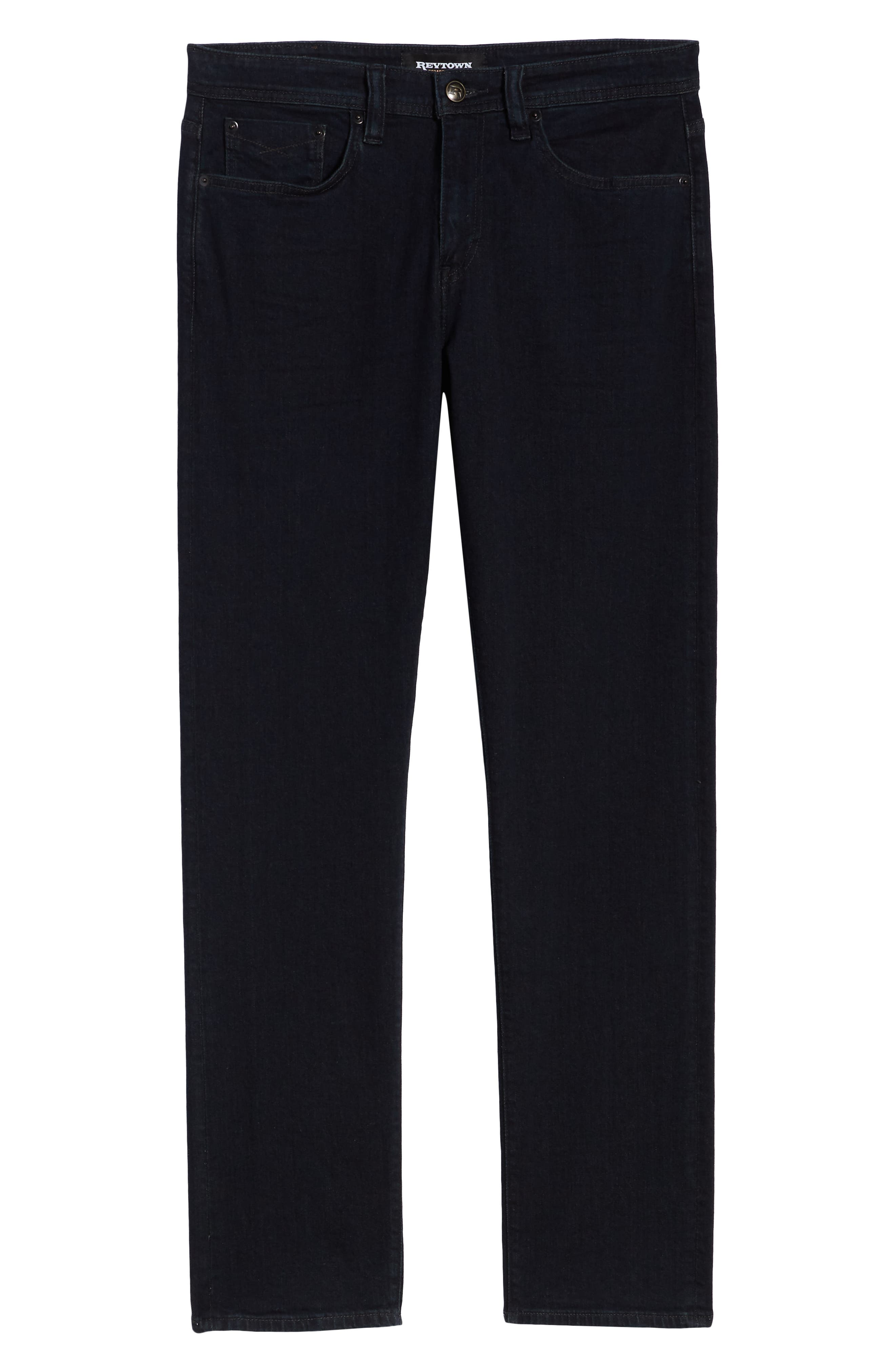 REVTOWN,                             Automatic Straight Leg Jeans,                             Alternate thumbnail 6, color,                             RINSE INDIGO