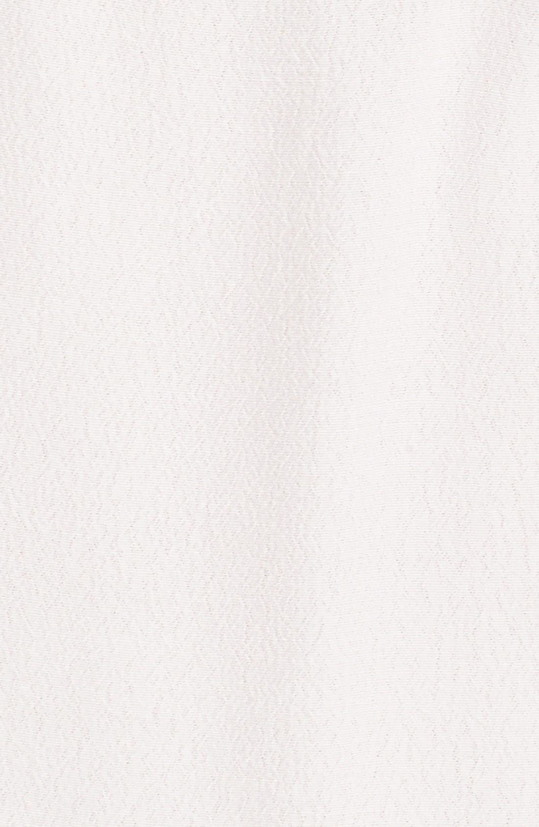 Cold Shoulder Wrap Front Maxi Dress,                             Alternate thumbnail 5, color,                             WHITE