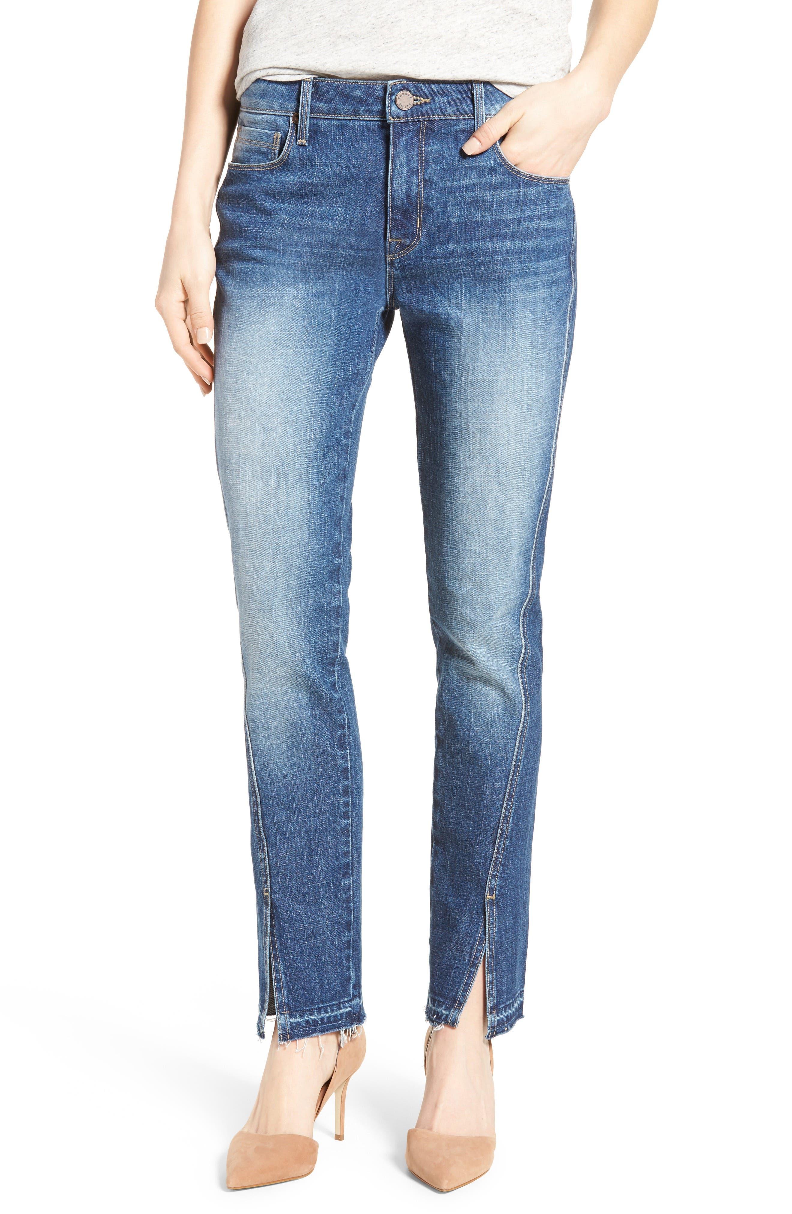 Vented Seam Straight Leg Jeans,                             Main thumbnail 1, color,                             483