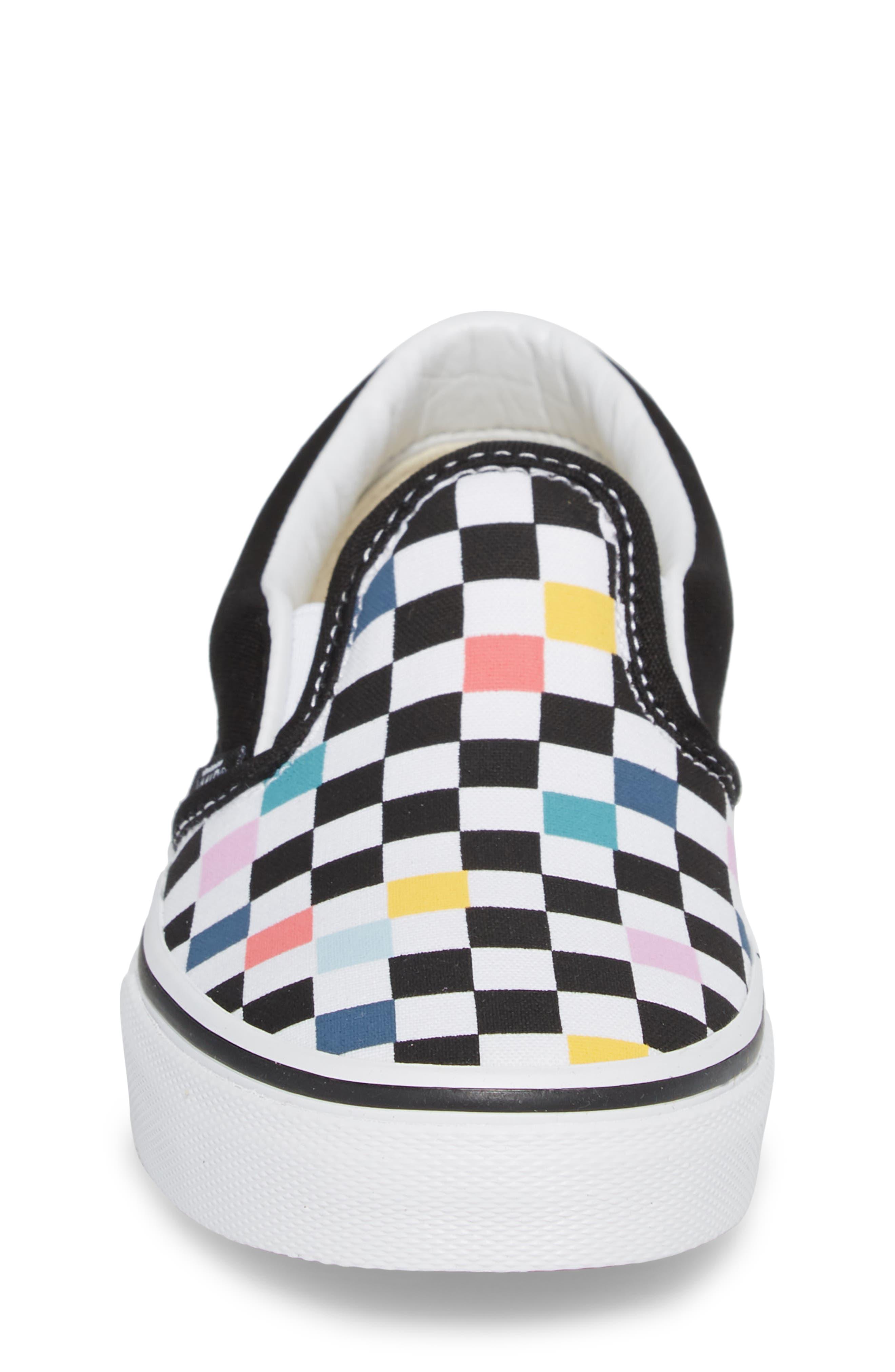 Party Check Slip-On Sneaker,                             Alternate thumbnail 4, color,                             001