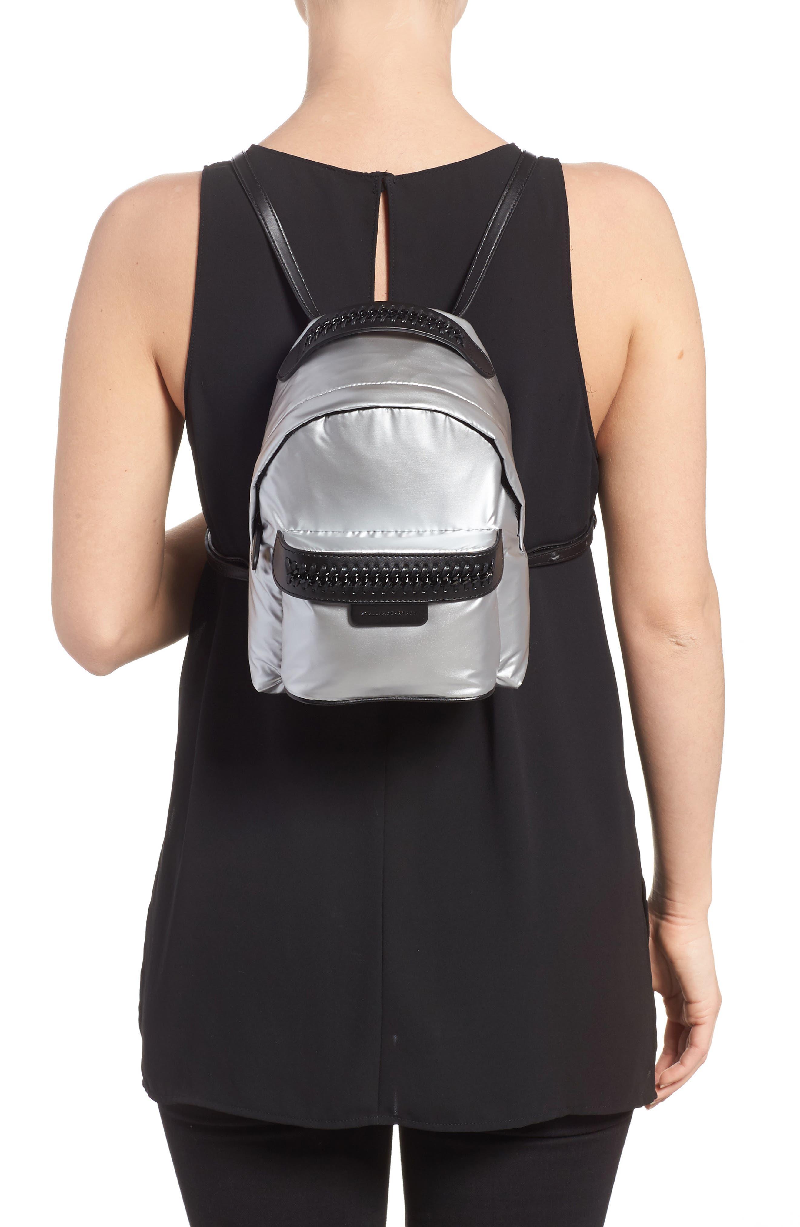 Mini Metallic Nylon Backpack,                             Alternate thumbnail 2, color,                             045
