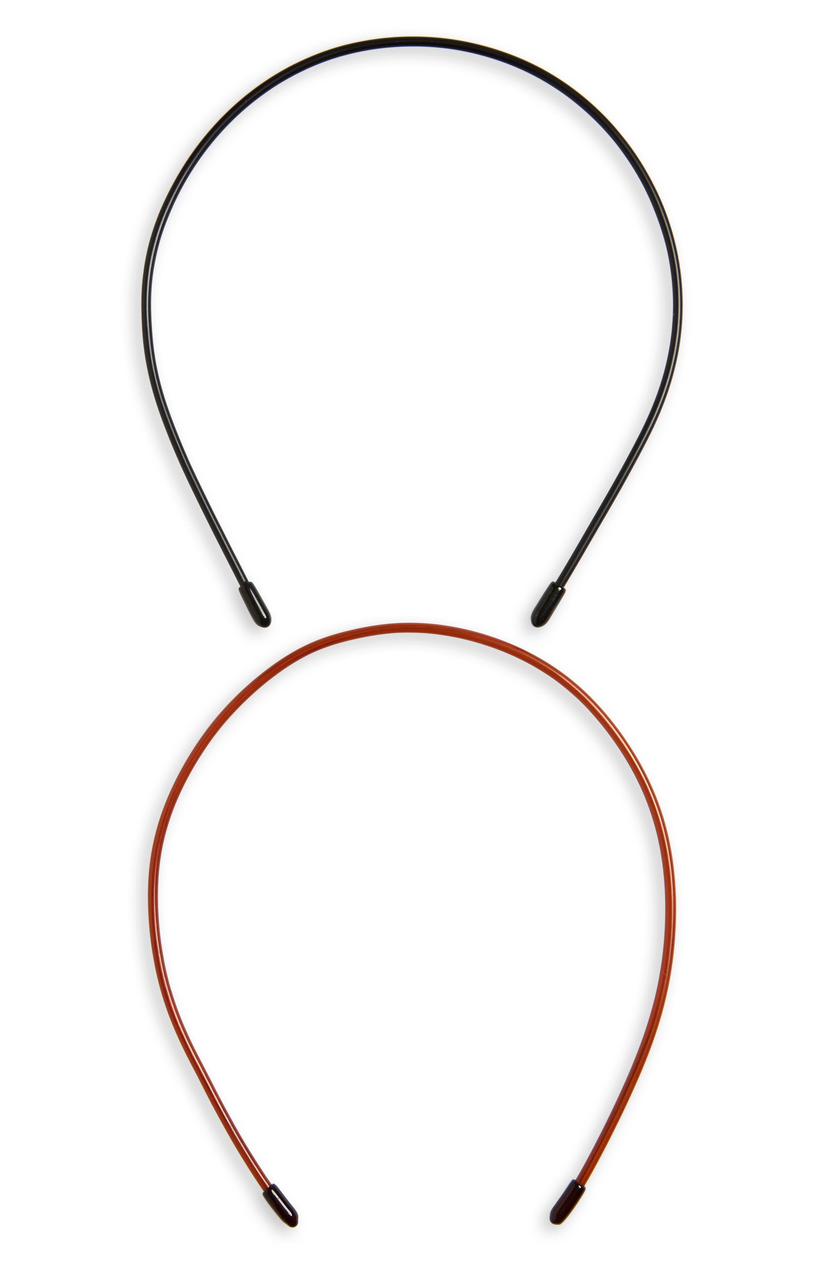 Twiggy 2-Pack Headbands,                             Main thumbnail 1, color,                             BLACK/ TORTOISE