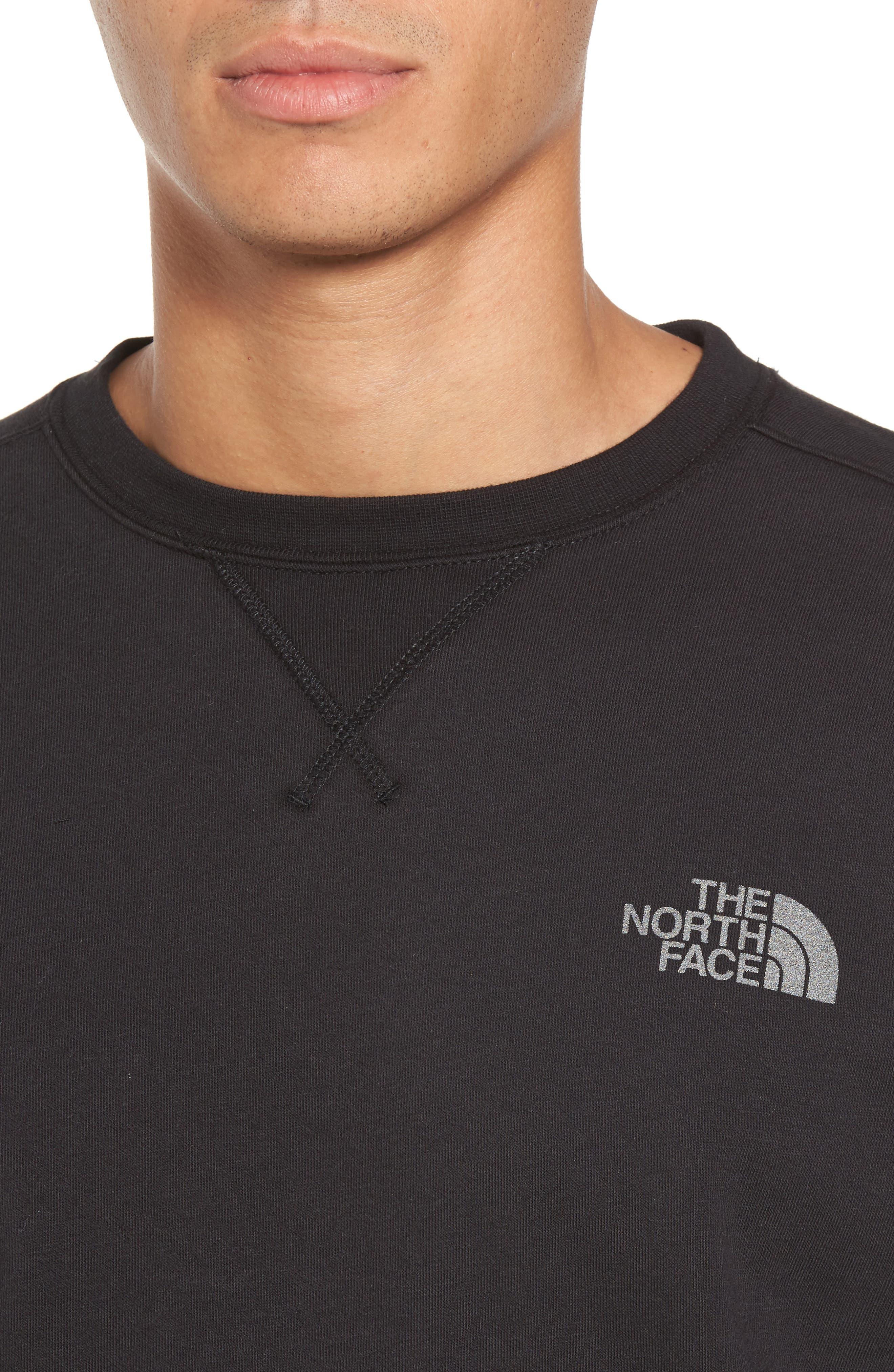 'Half Dome' Crewneck Sweatshirt,                             Alternate thumbnail 4, color,                             002