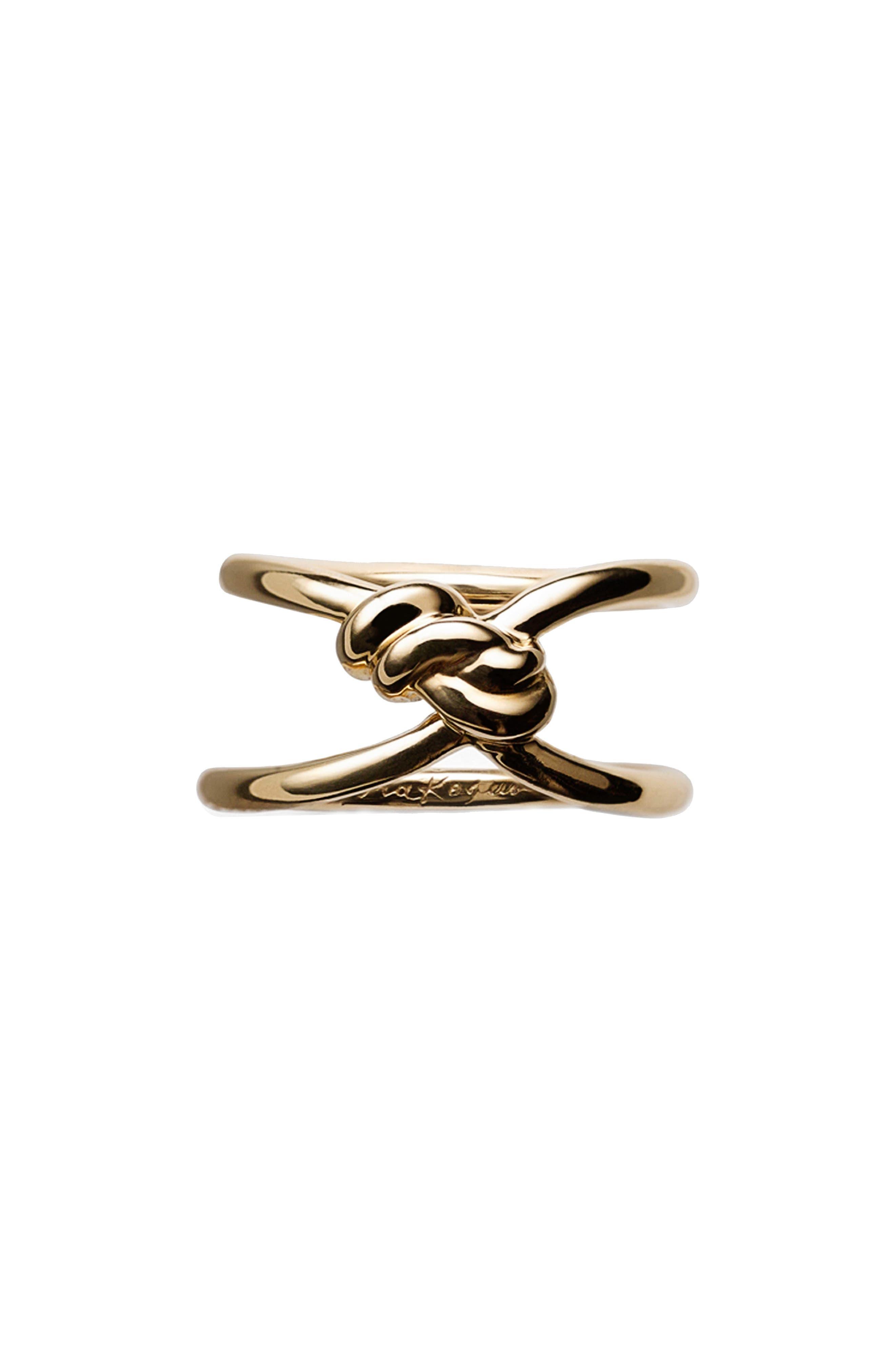 Yuki Shibari Knot Ring,                         Main,                         color, YELLOW GOLD