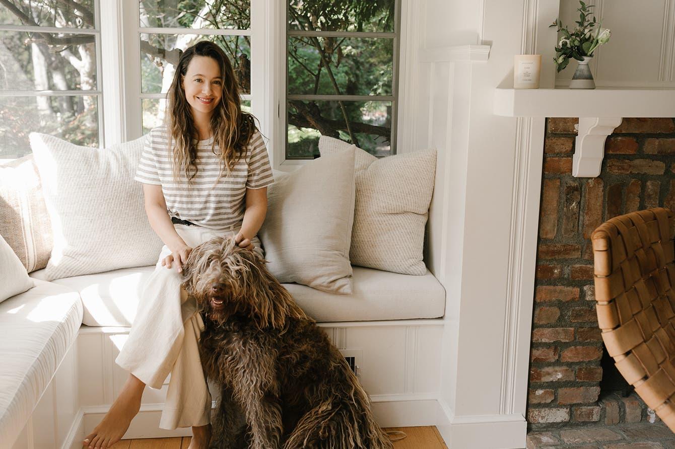 Jenni Kayne and her dog.