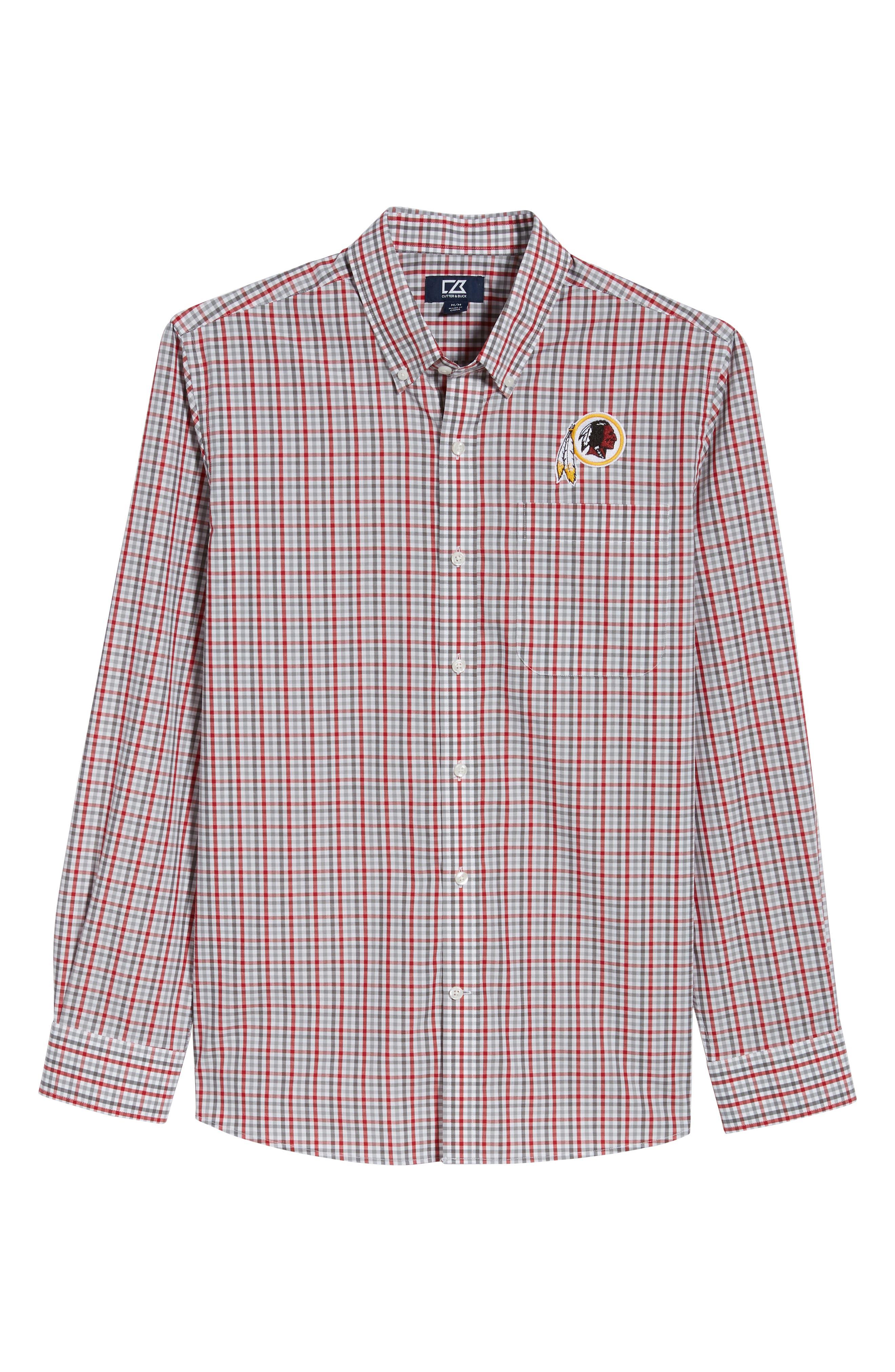 Washington - Gilman Regular Fit Plaid Sport Shirt,                             Alternate thumbnail 6, color,                             CARDINAL RED