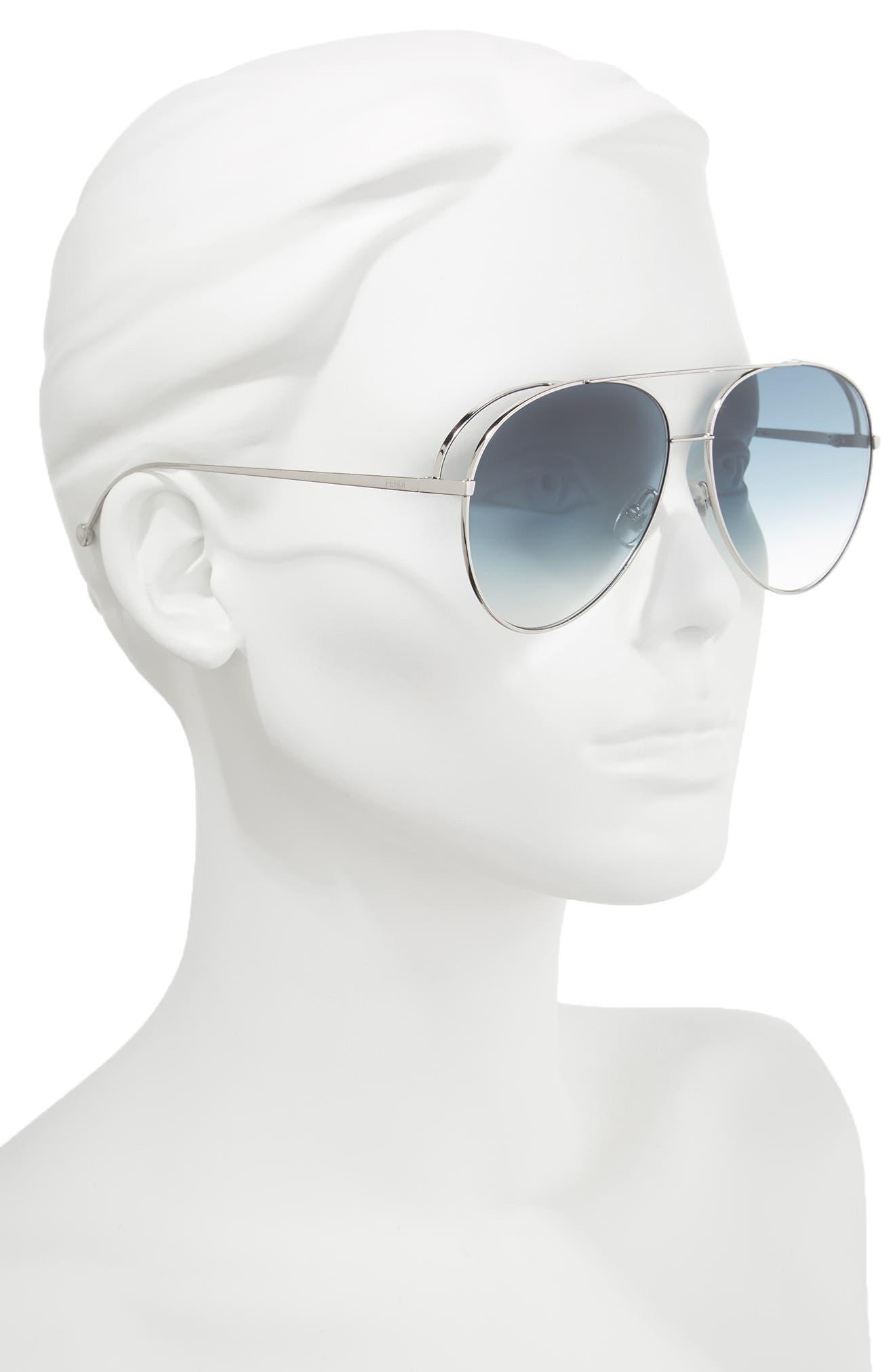 52mm Aviator Sunglasses,                             Alternate thumbnail 2, color,                             PALLADIUM