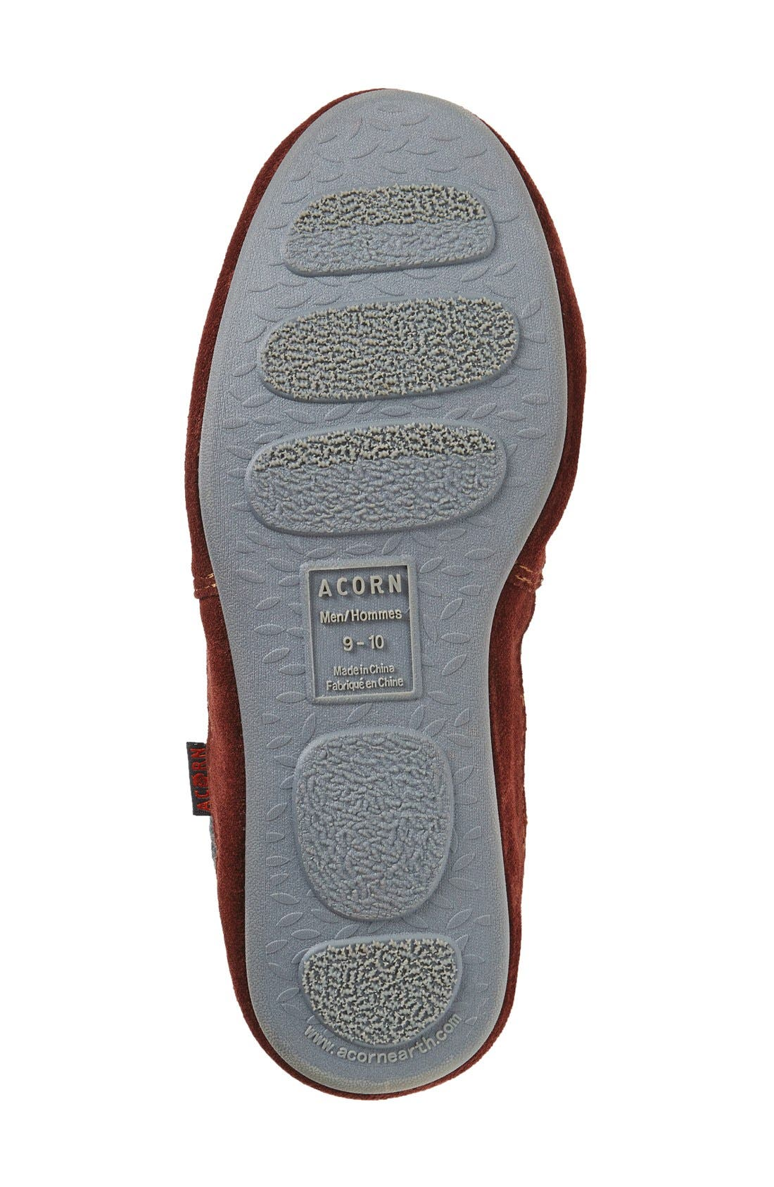 'Slouch Boot' Slipper,                             Alternate thumbnail 3, color,                             CHARCOAL RAGG WOOL
