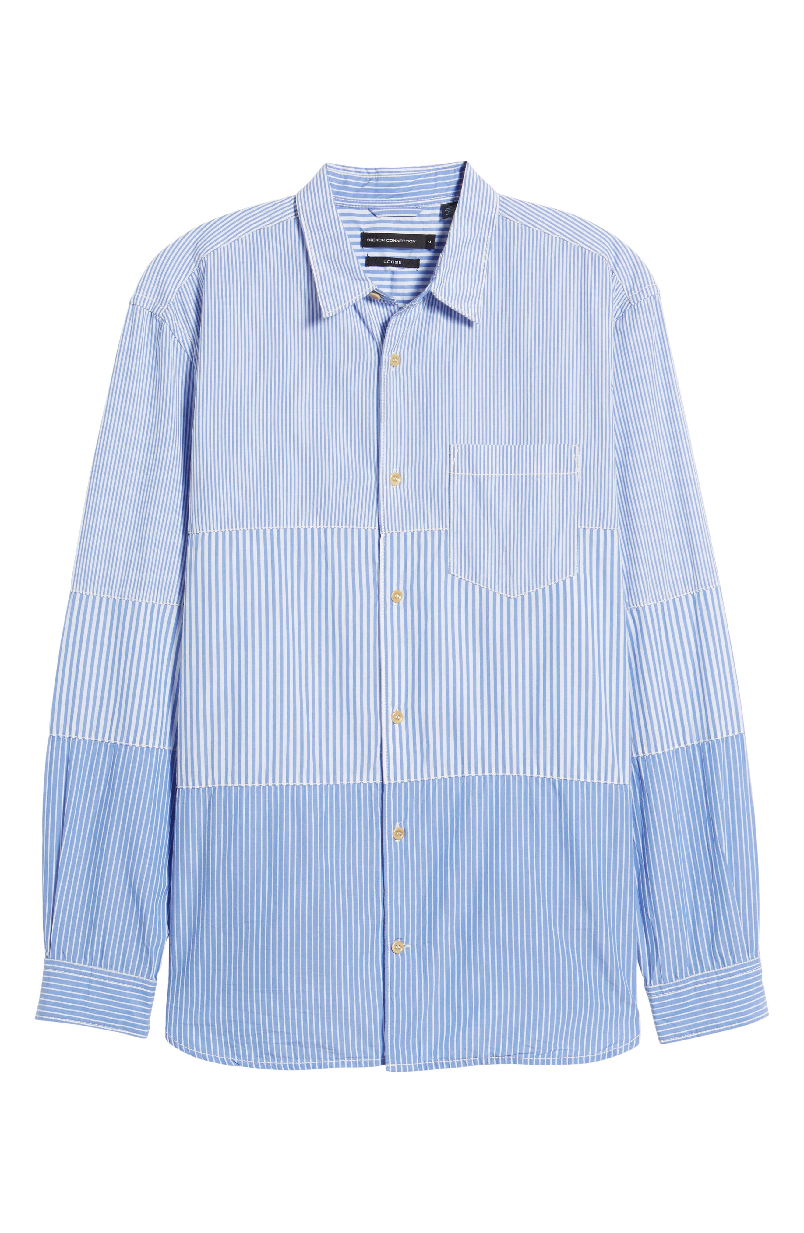 Regular Fit Stripe Sport Shirt,                             Alternate thumbnail 6, color,                             400