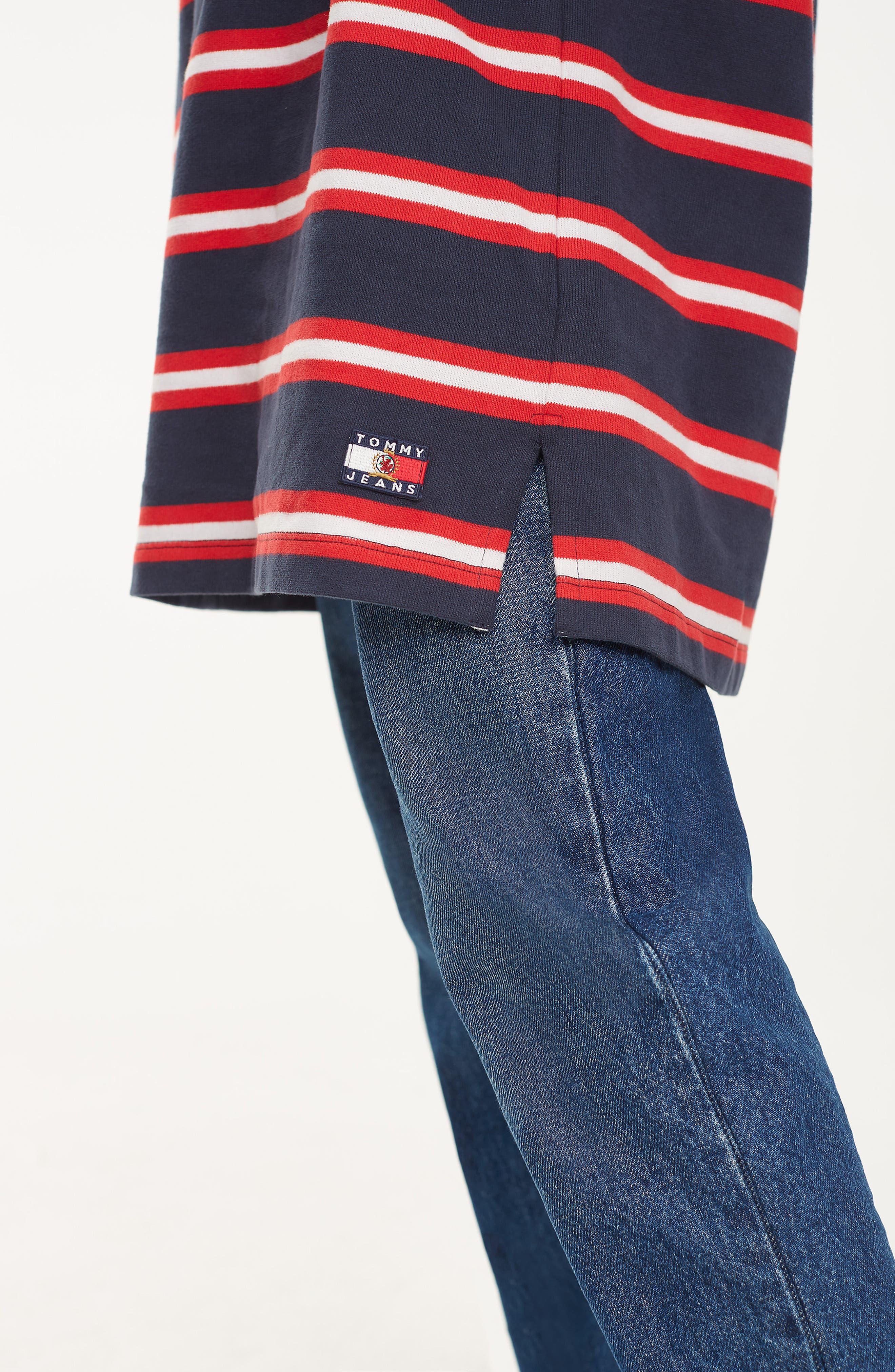 Crest Capsule Stripe Rugby Dress,                             Alternate thumbnail 5, color,                             DARK SAPPHIRE / MULTI