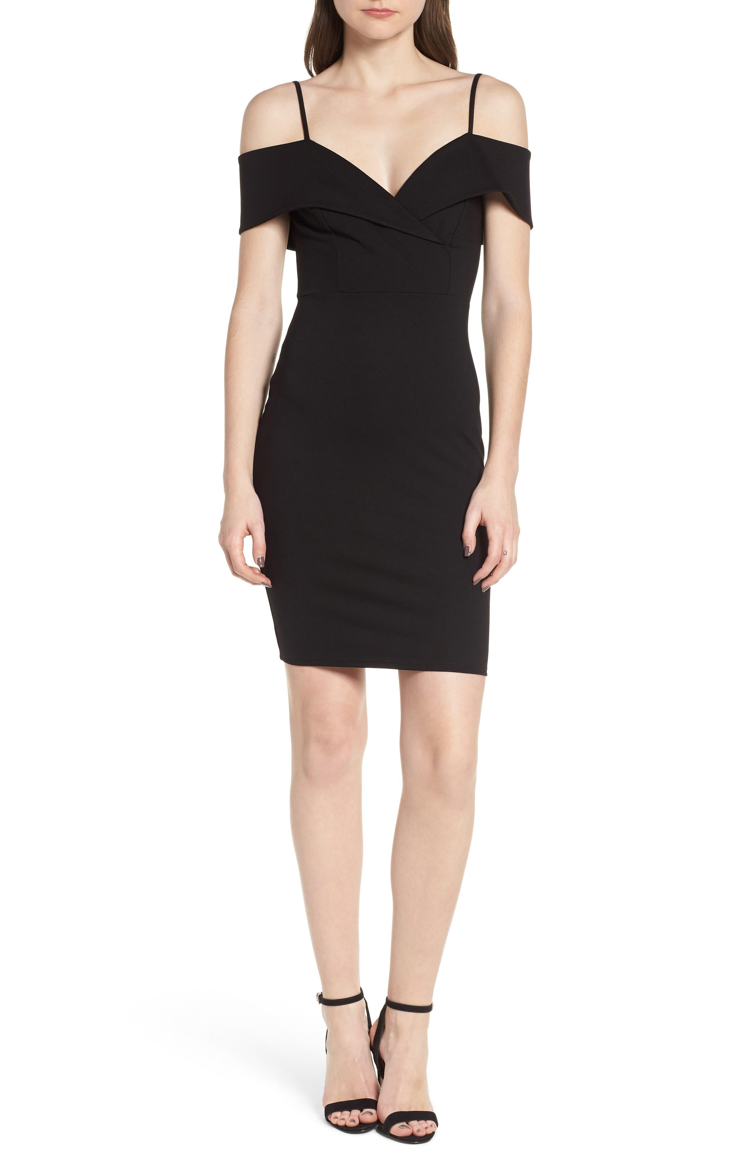 Cold Shoulder Body-Con Dress,                         Main,                         color,