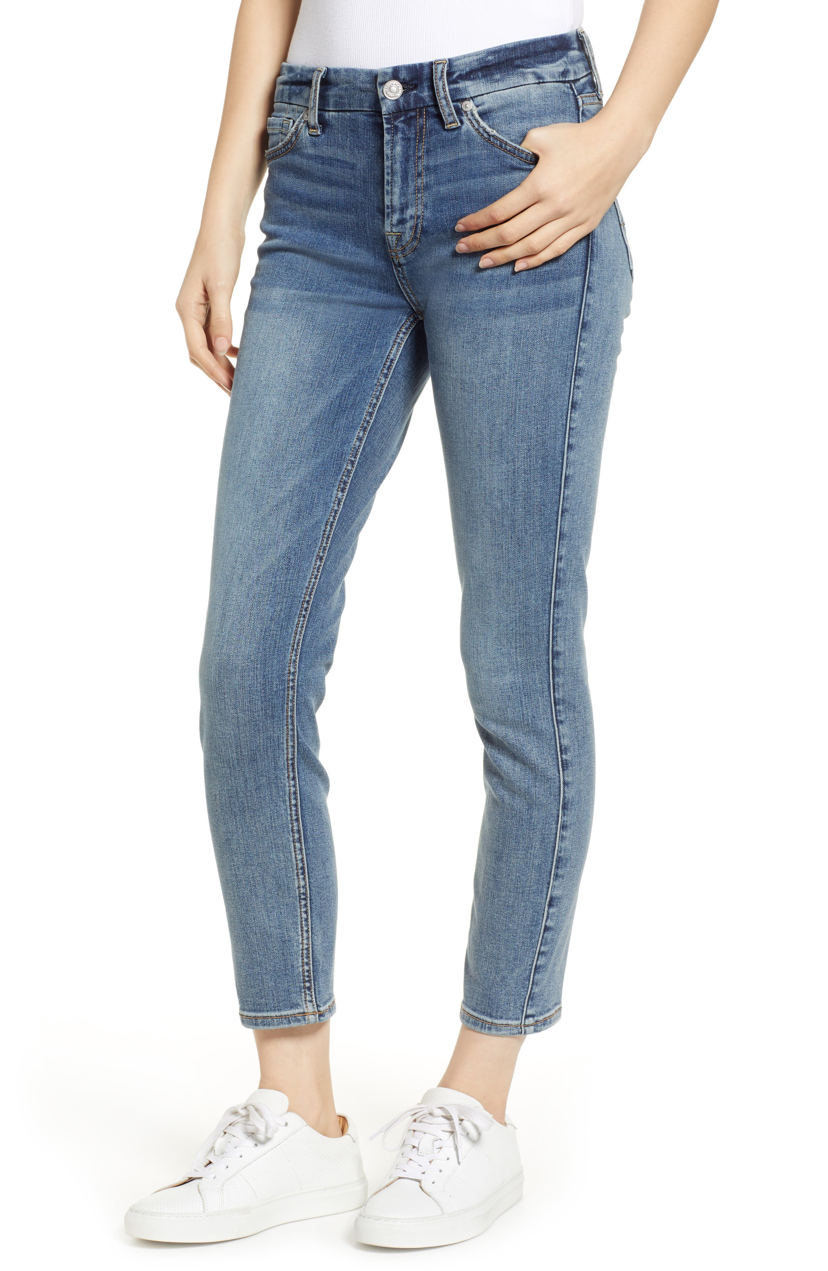 7 FOR ALL MANKIND<SUP>®</SUP> b(air) Kimmie Crop Slim Jeans, Main, color, 402