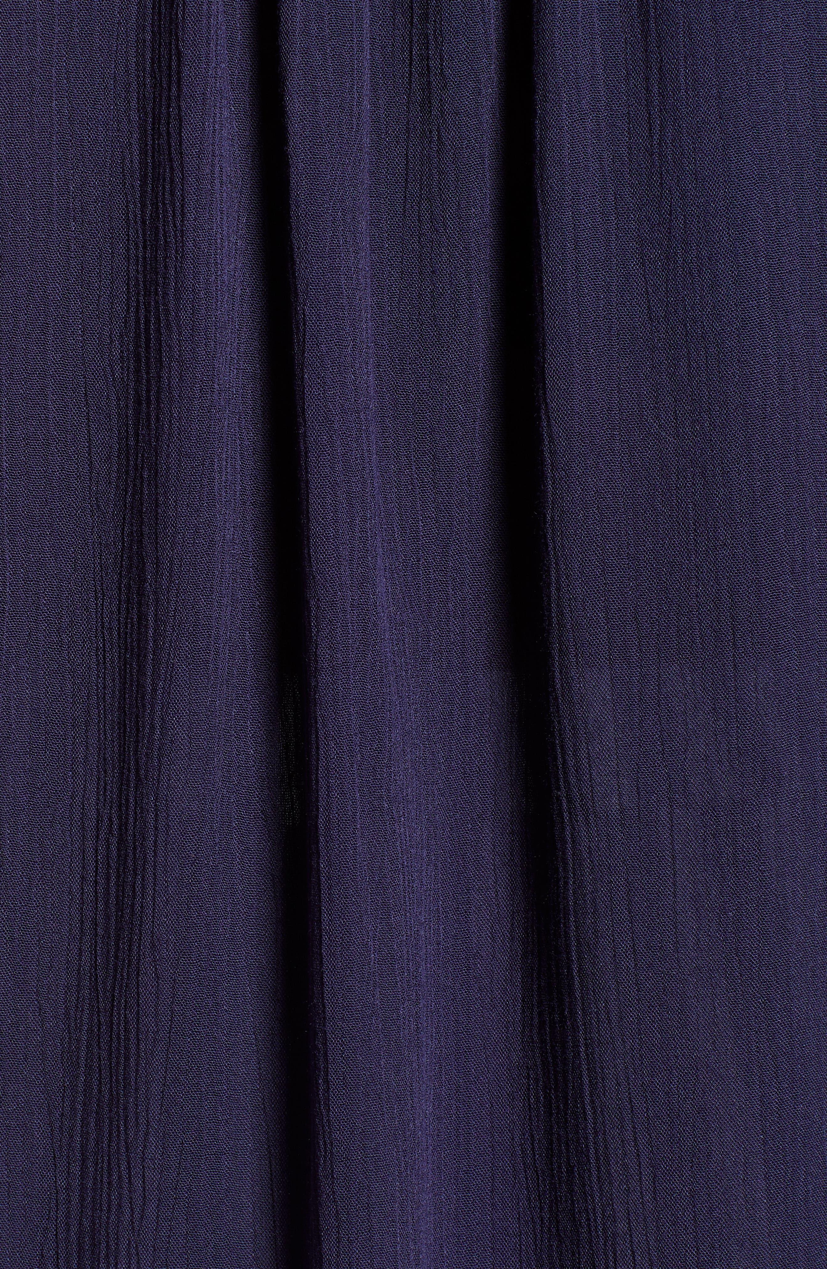 CASLON<SUP>®</SUP>,                             Lace Appliqué Top,                             Alternate thumbnail 6, color,                             NAVY