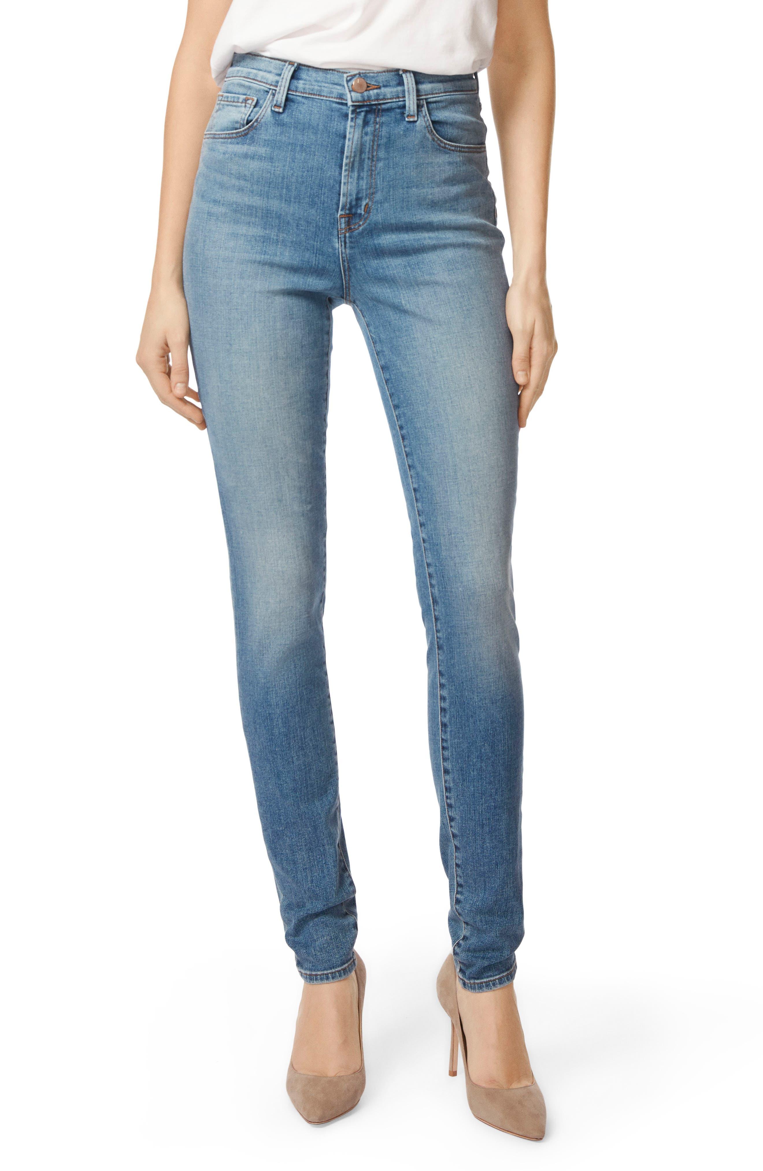 Carolina Super High Waist Skinny Jeans,                         Main,                         color, 400