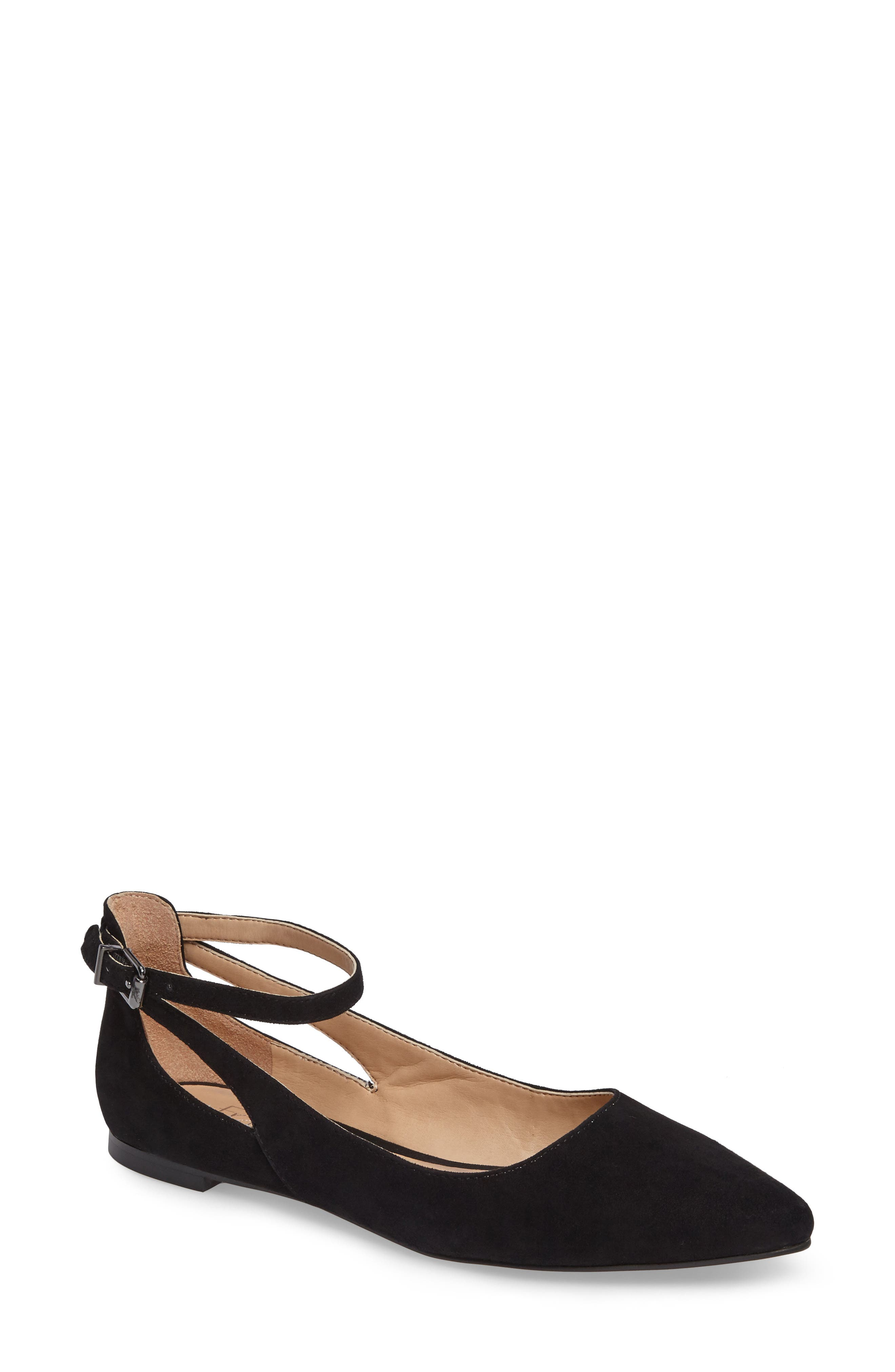 Sylvia Ankle Strap Flat,                         Main,                         color, 002