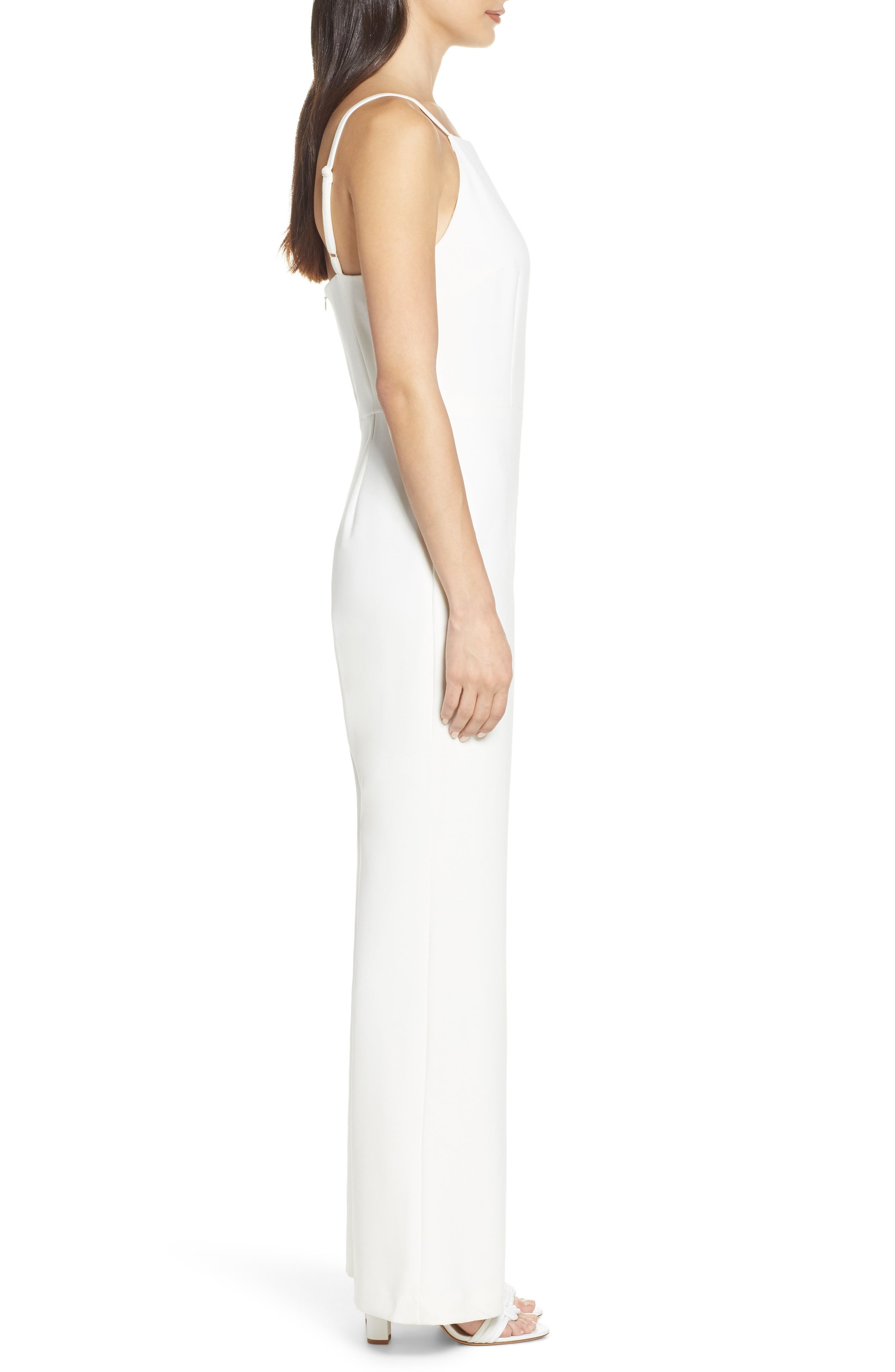 Whisper Halter Neck Jumpsuit,                             Alternate thumbnail 3, color,                             107