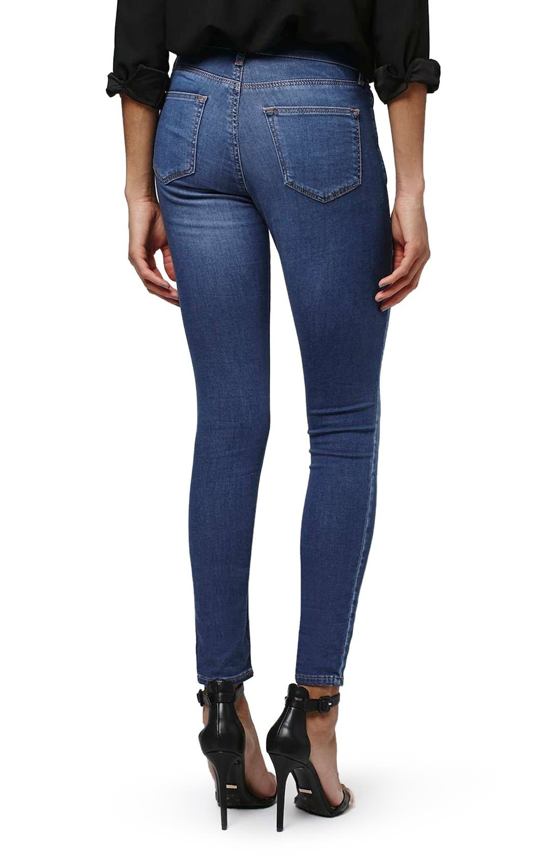 'Leigh' Ankle Skinny Jeans,                             Alternate thumbnail 2, color,                             400