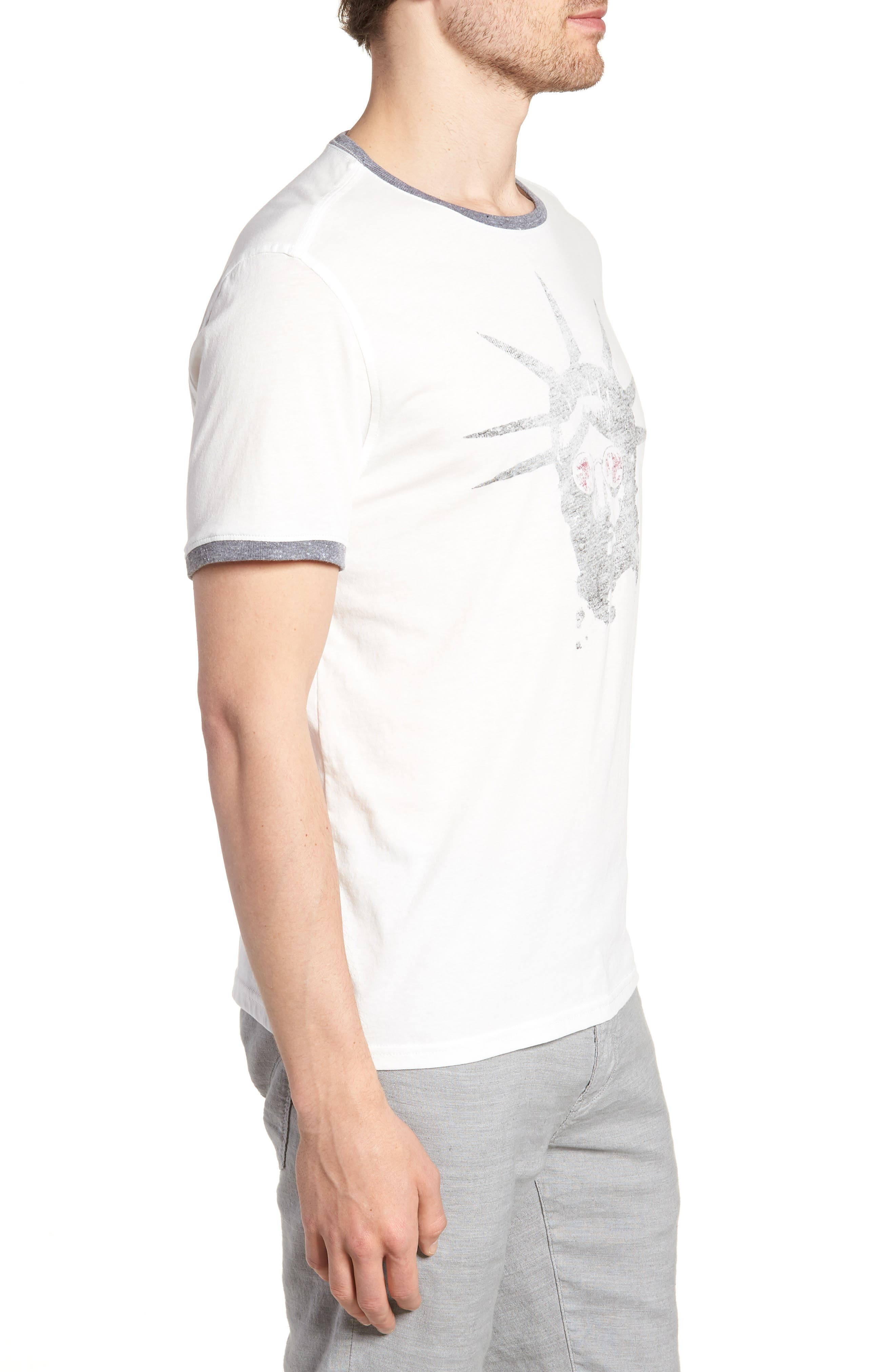 Liberty Shades Crewneck T-Shirt,                             Alternate thumbnail 3, color,                             103