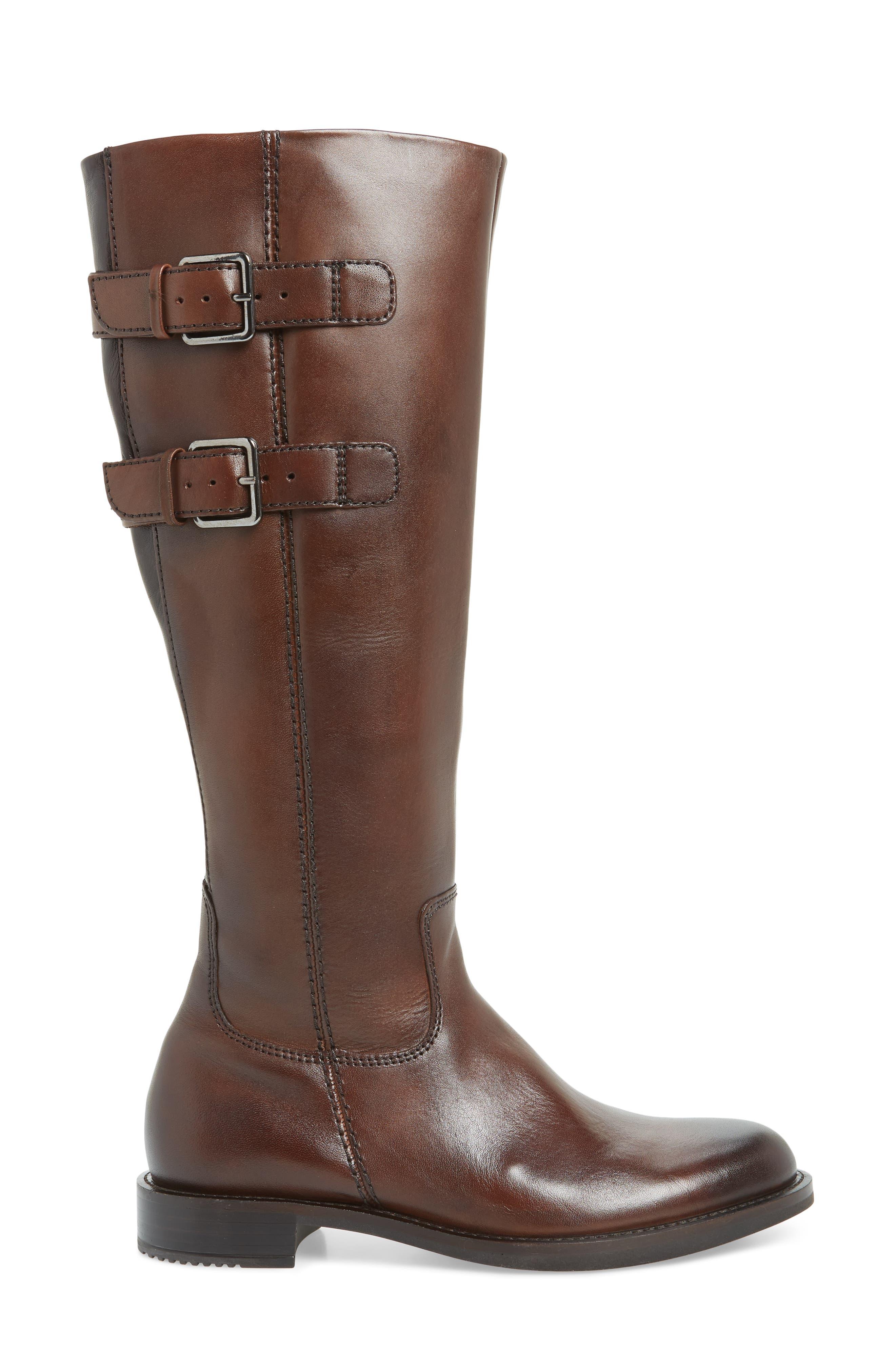 ECCO,                             Shape 25 Tall Buckle Boot,                             Alternate thumbnail 3, color,                             243