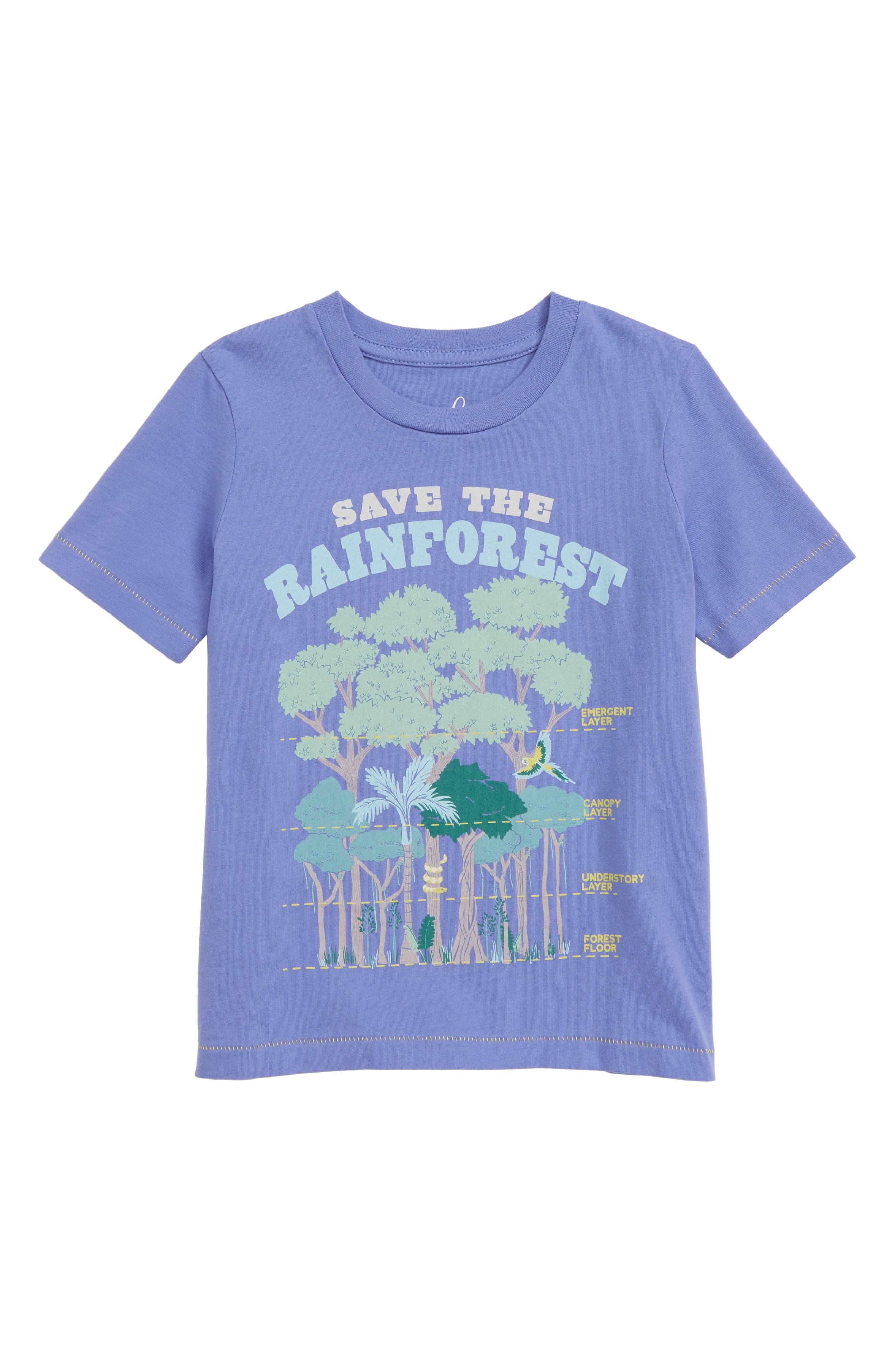 PEEK AREN'T YOU CURIOUS Rain Forest T-Shirt, Main, color, PURPLE