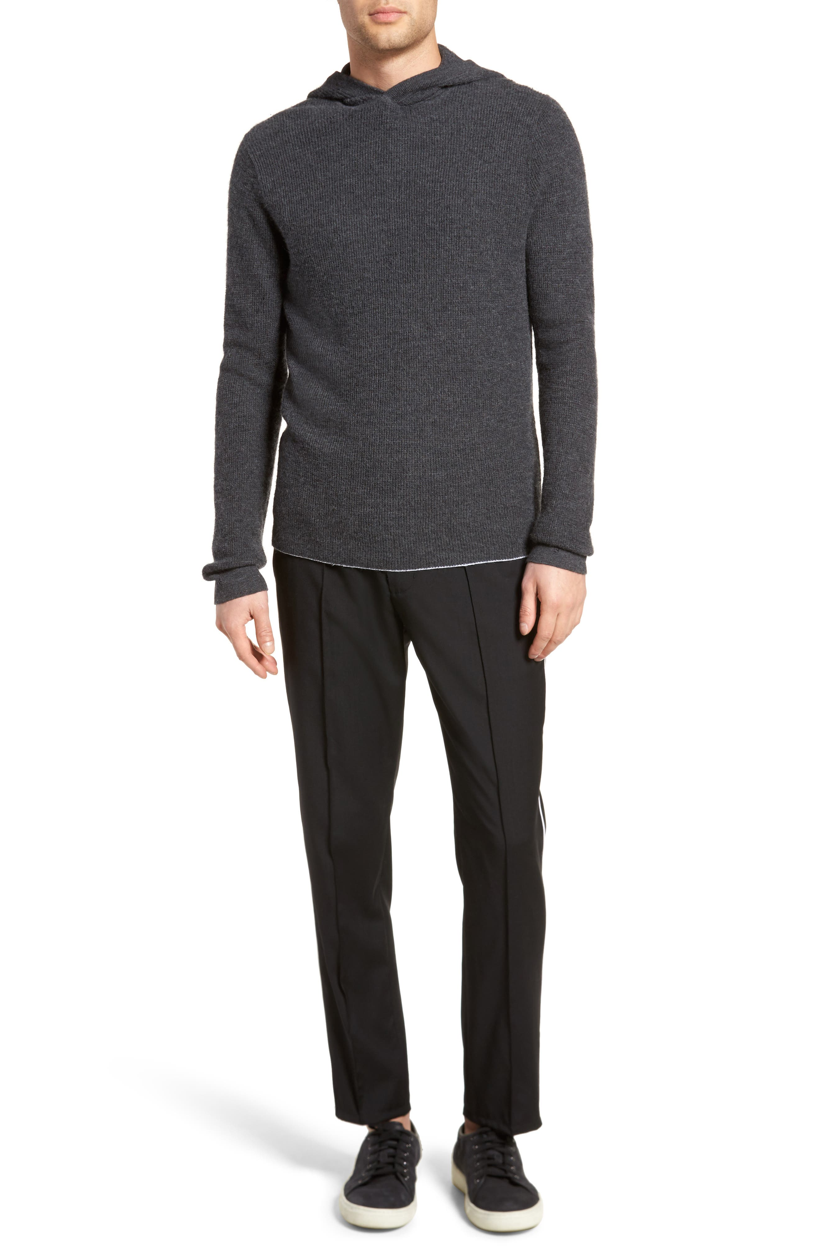 Thermal Knit Cashmere Hooded Sweater,                             Alternate thumbnail 7, color,                             020