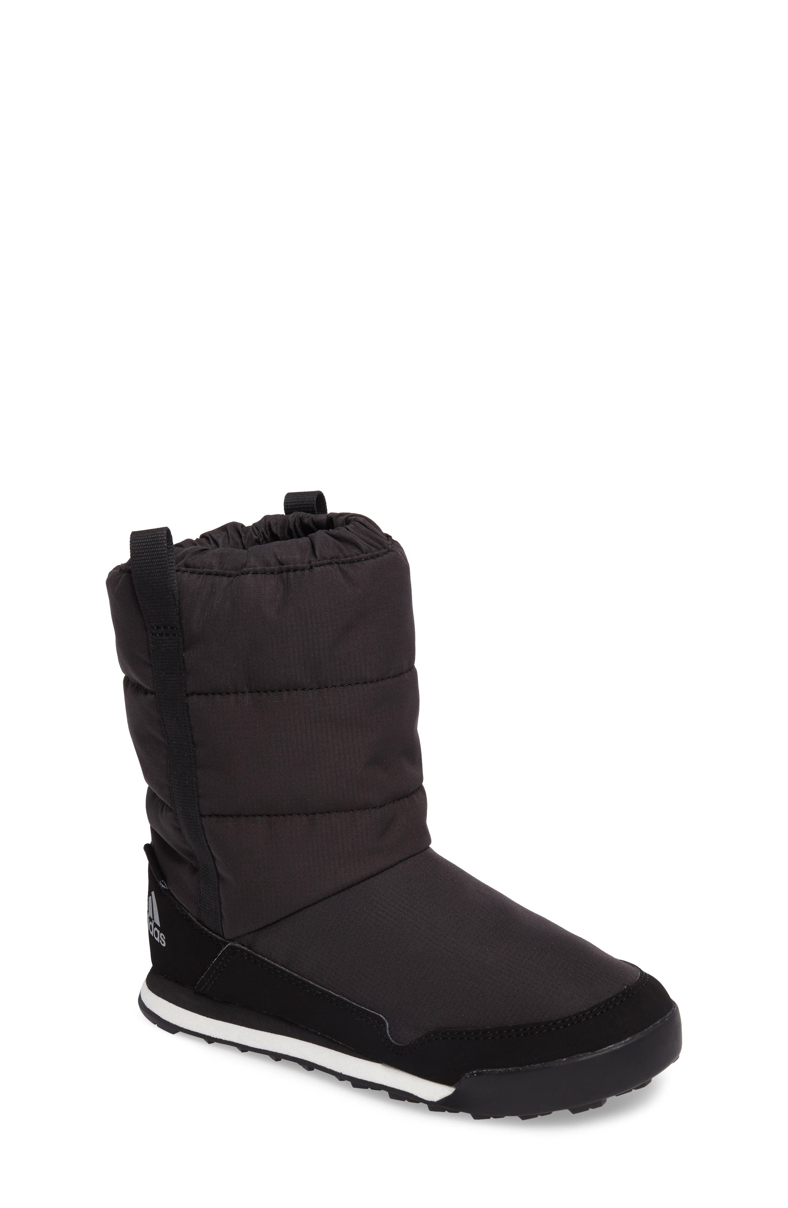 CW Snowpitch Insulated Waterproof Boot,                         Main,                         color, BLACK/ BLACK/ CHALK WHITE