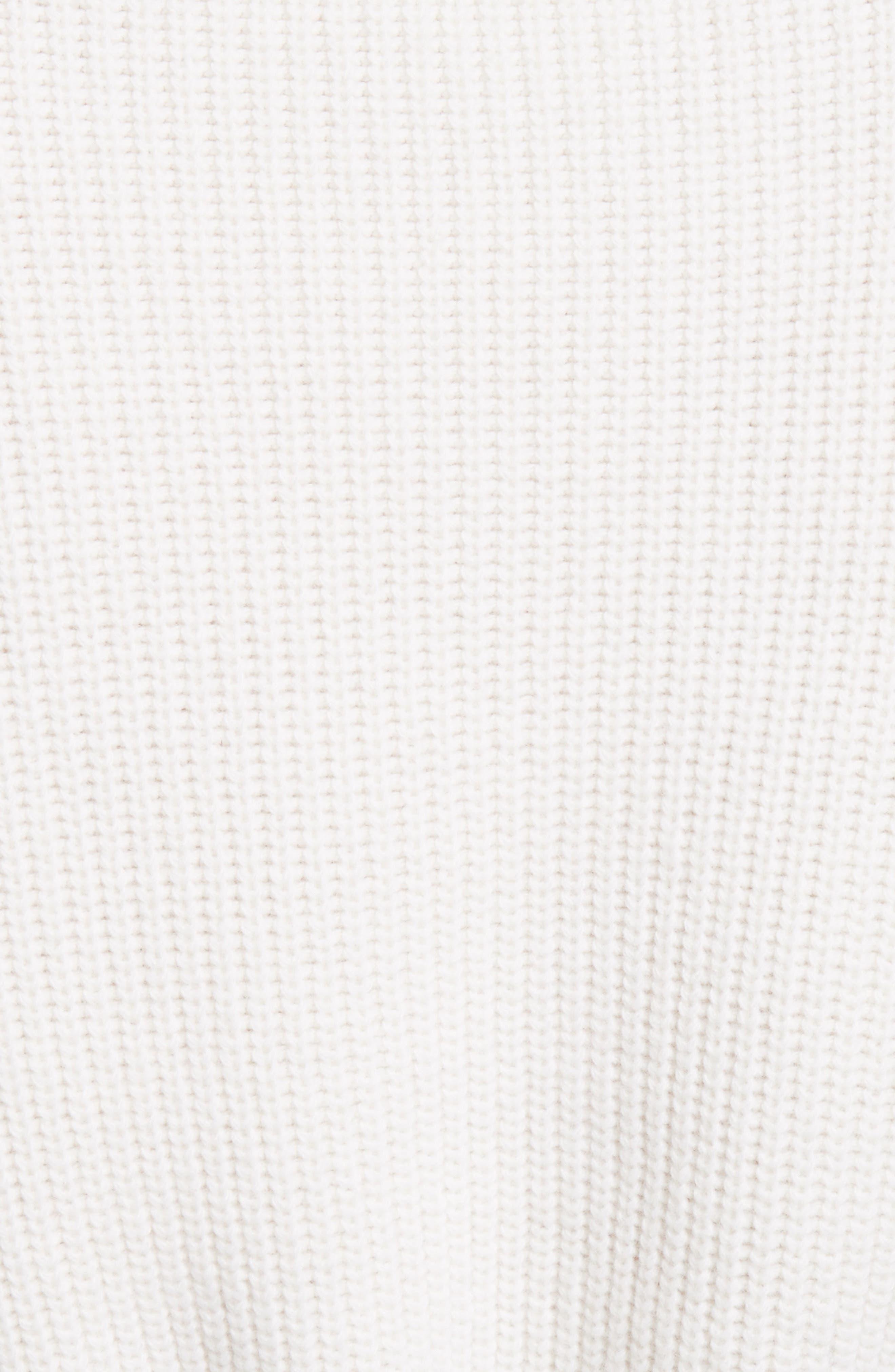 Lace Trim Merino Wool & Cashmere Sweater,                             Alternate thumbnail 5, color,                             901