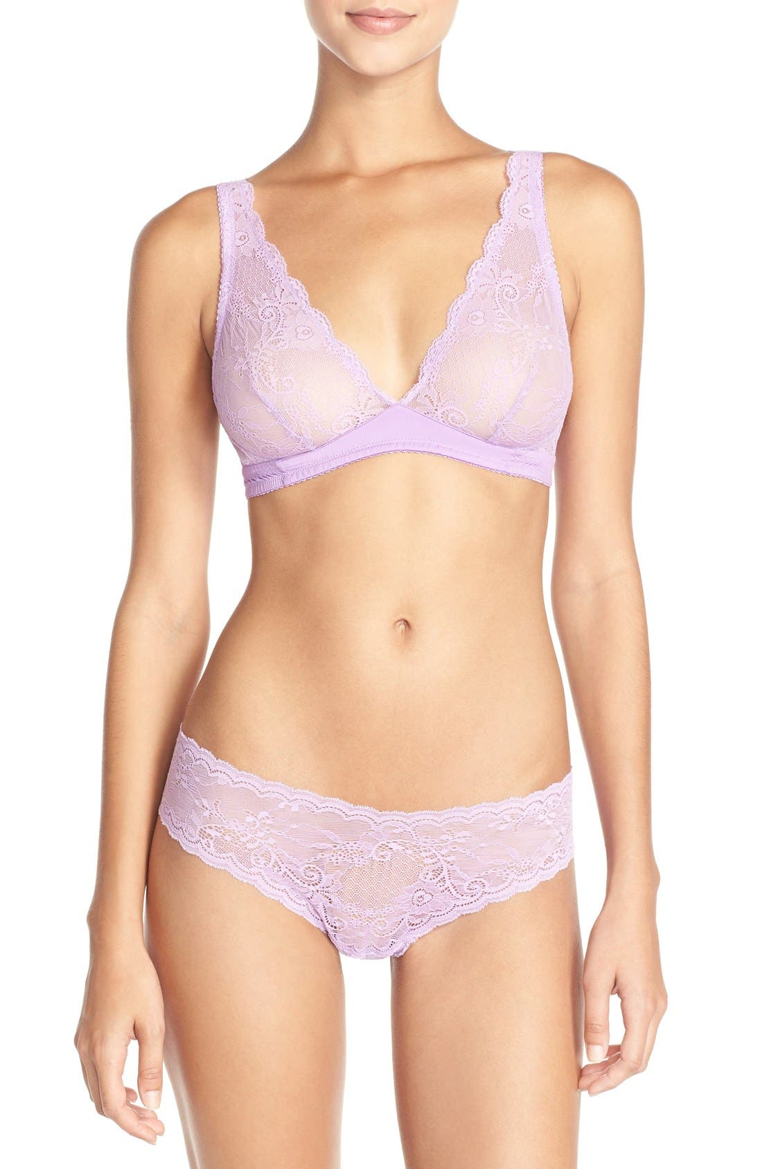'Trenta' Low Rise Lace Thong,                             Alternate thumbnail 65, color,