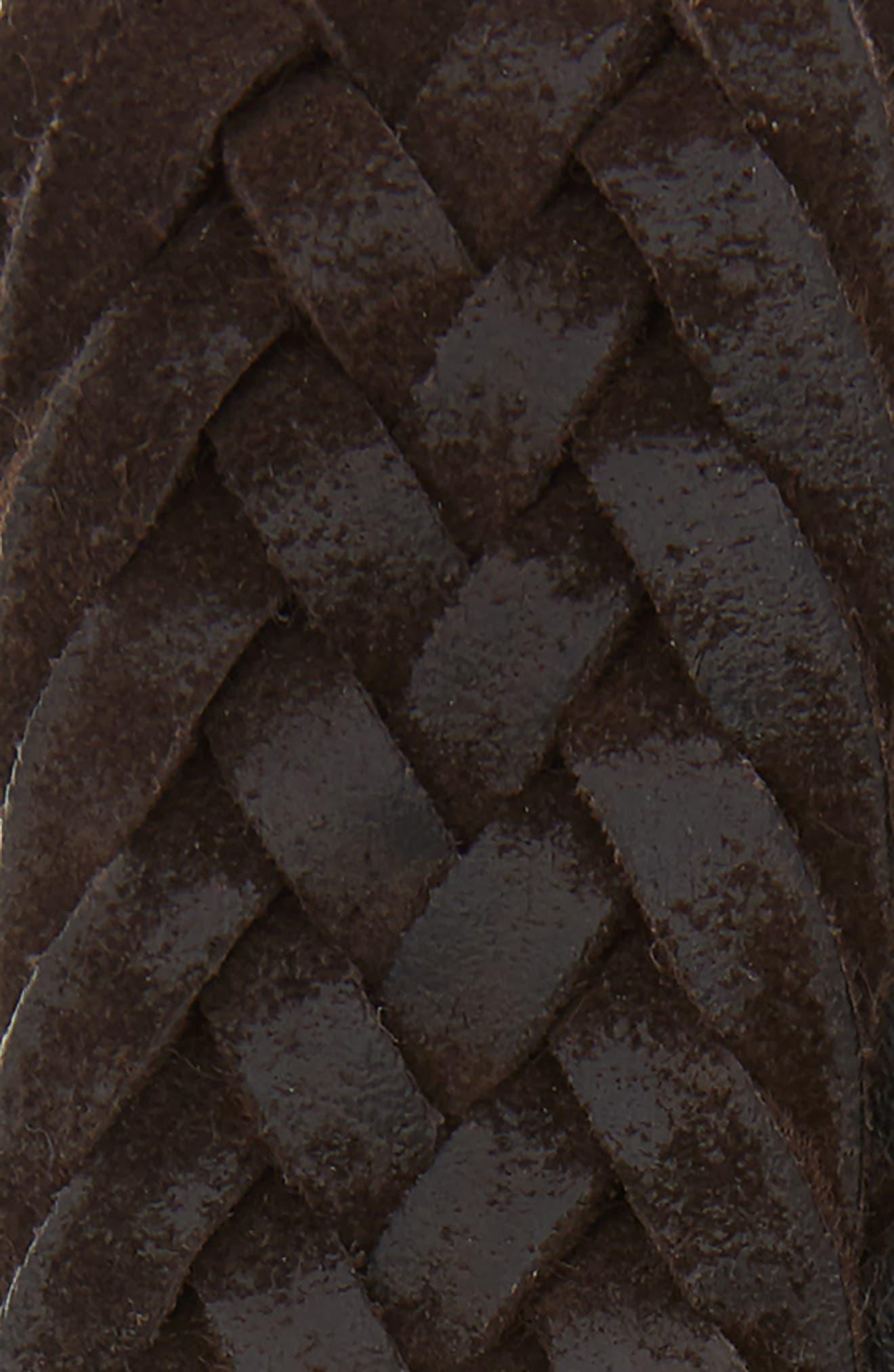 Winter Suede Woven Belt,                             Alternate thumbnail 2, color,                             T. MORO