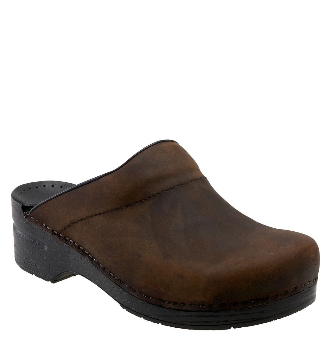 'Karl' Slip-On,                             Main thumbnail 1, color,                             Antique Brown Oiled