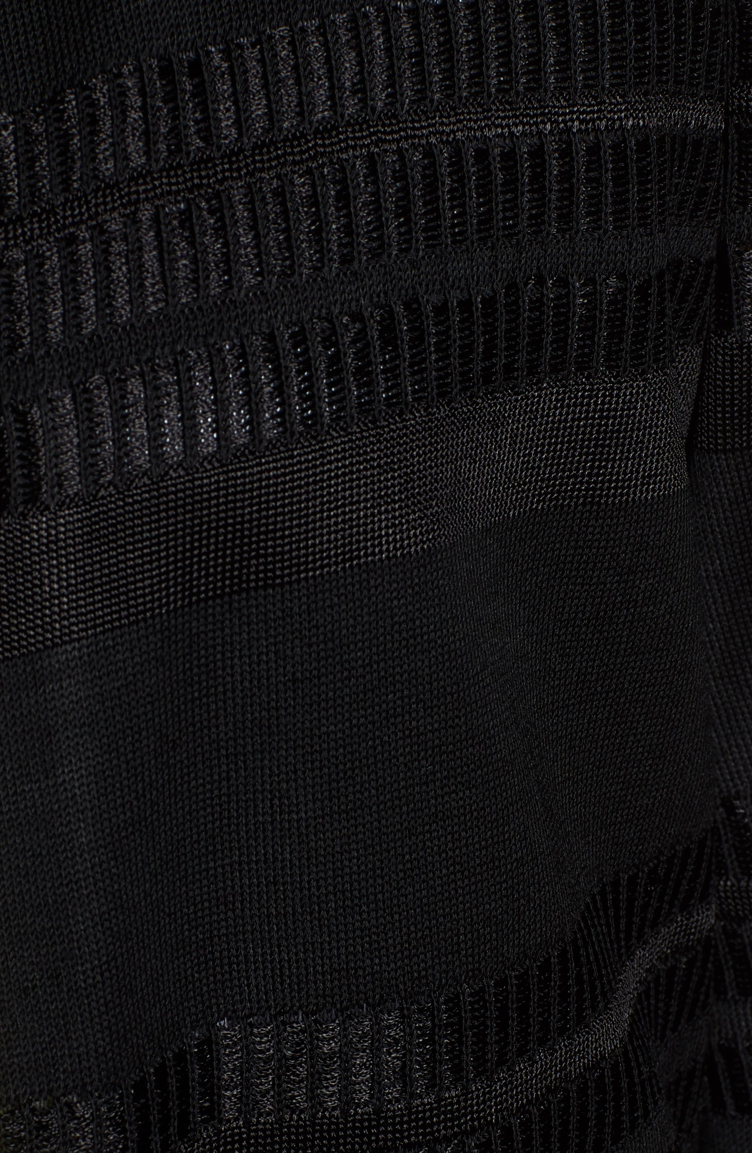 Long Jacquard Knit Jacket,                             Alternate thumbnail 6, color,                             BLACK/ PEAR/ WHITE