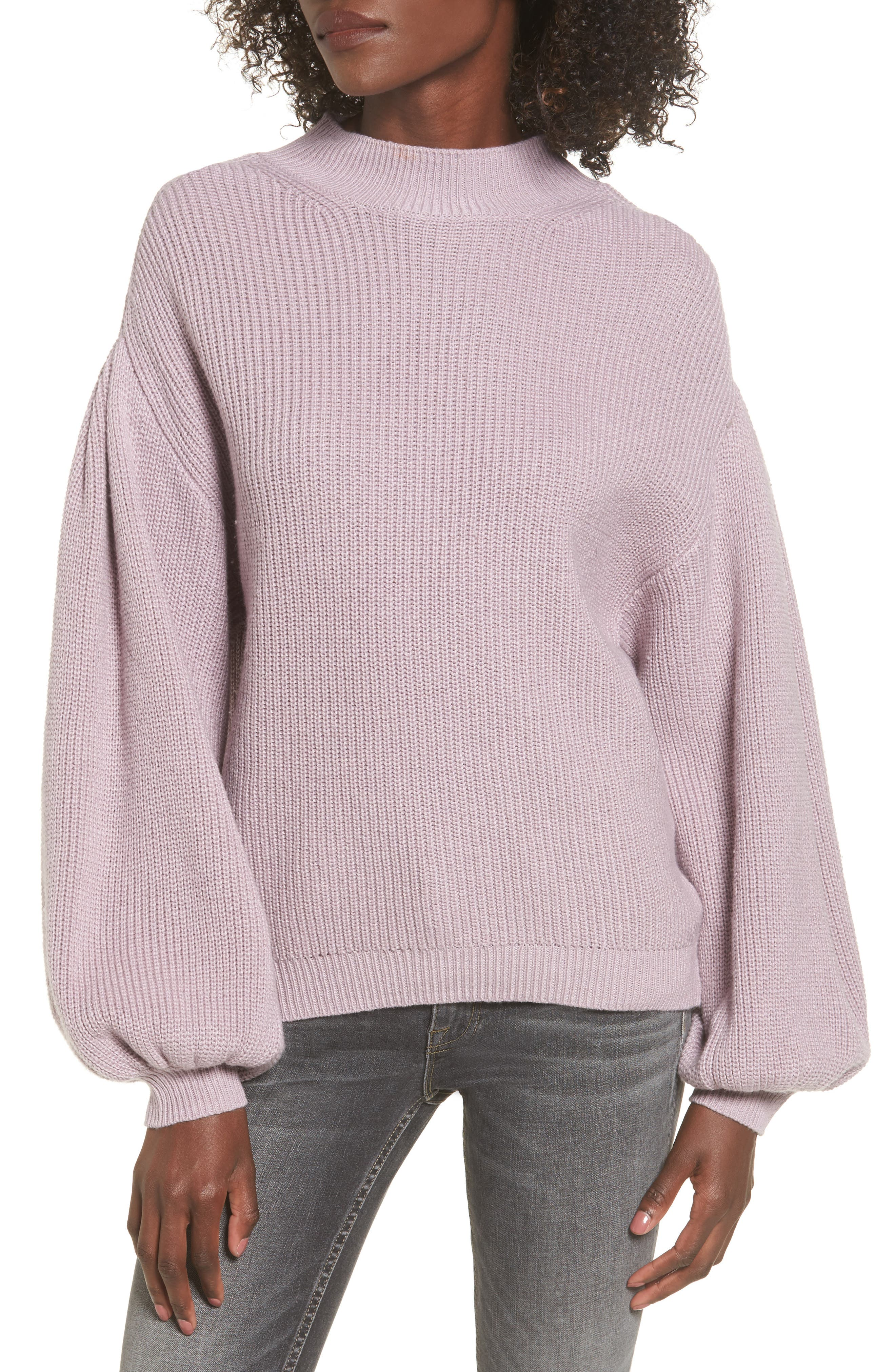 Blouson Sleeve Sweater,                             Main thumbnail 4, color,