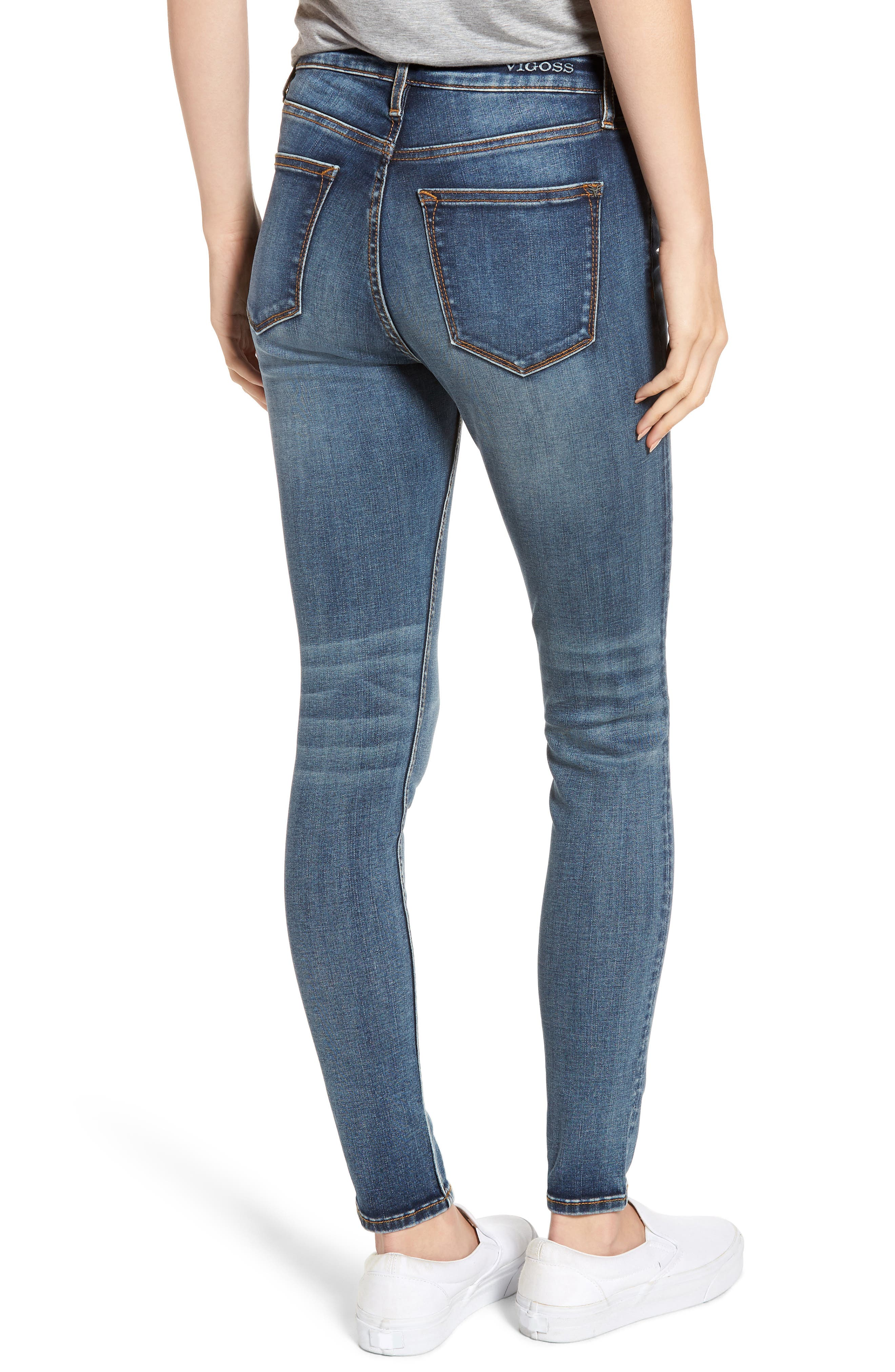 Marley Skinny Jeans,                             Alternate thumbnail 2, color,                             MED WASH