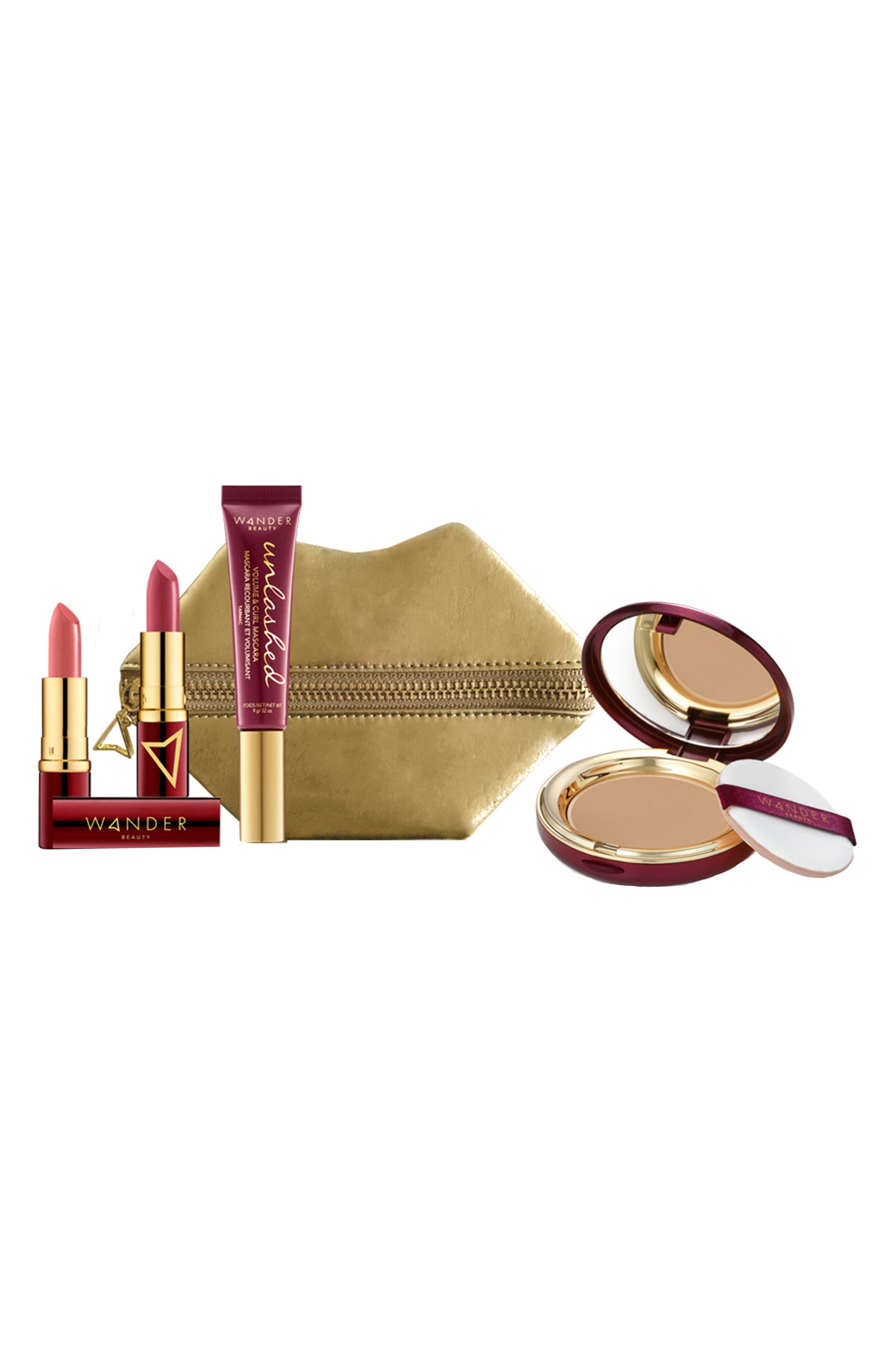 Jetsetter Makeup Essentials Kit,                             Main thumbnail 1, color,                             TAN