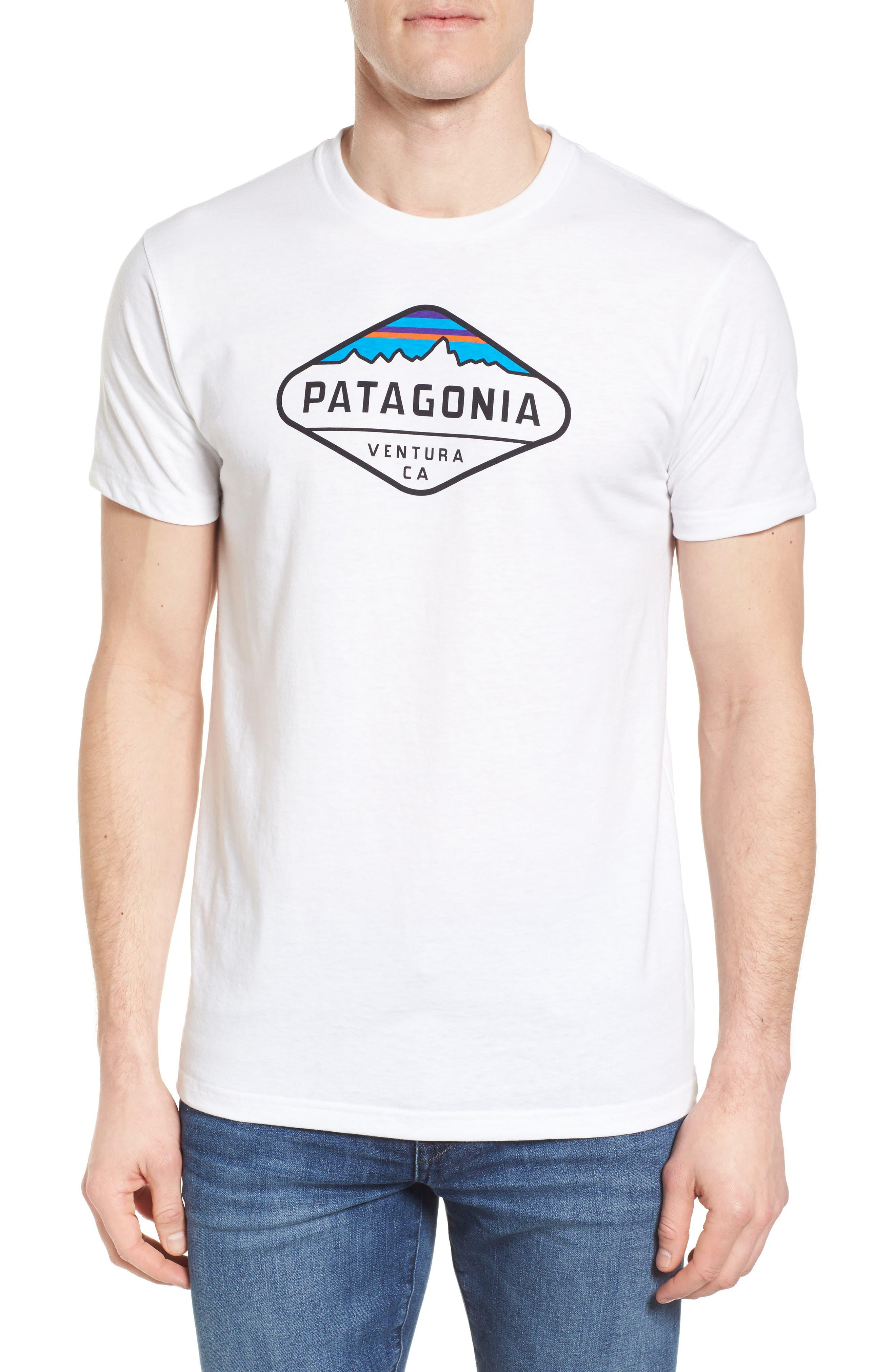 'Fitz Roy Crest' Slim Fit Organic Cotton Blend T-Shirt,                             Main thumbnail 3, color,
