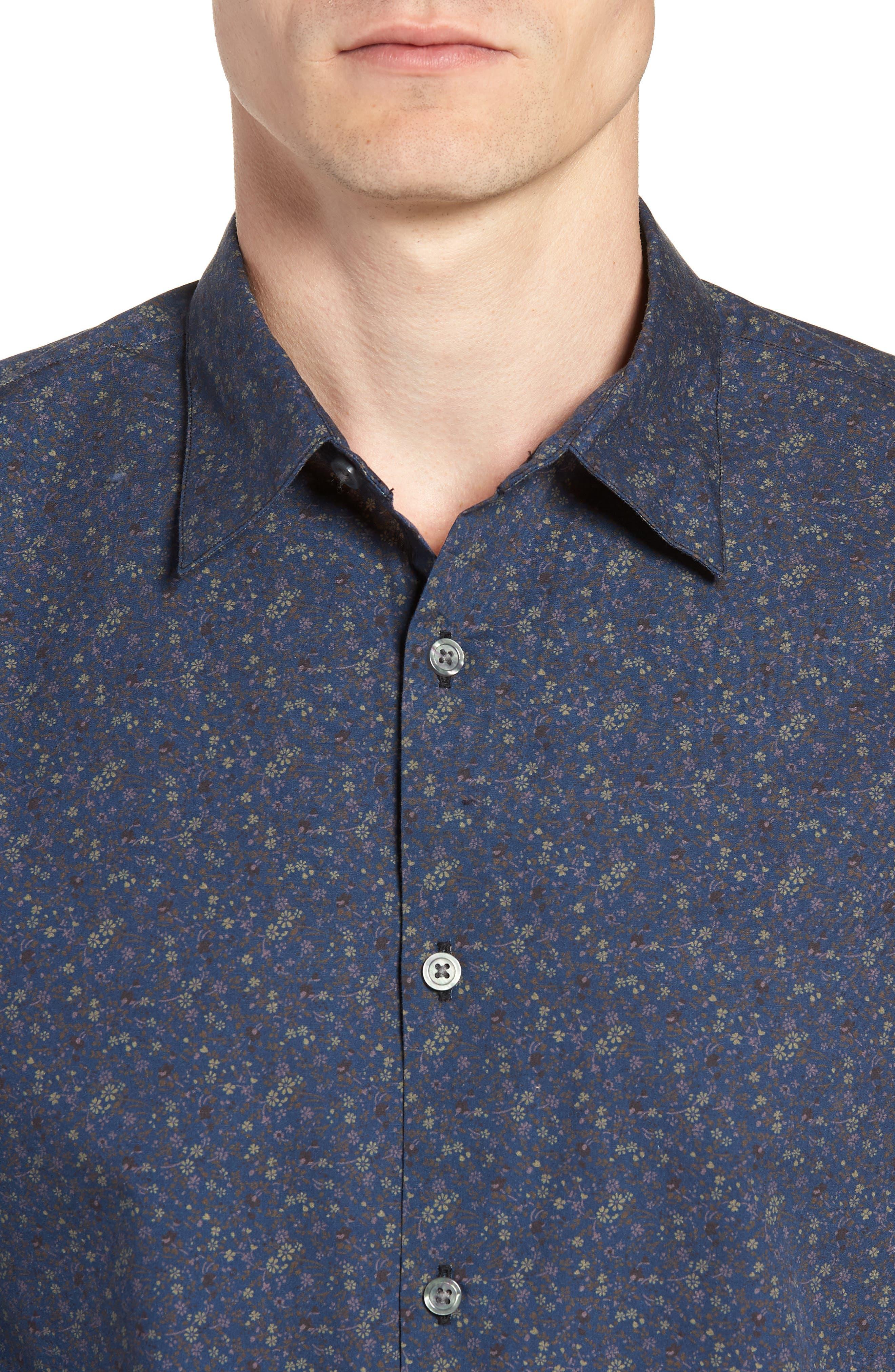Regular Fit Sport Shirt,                             Alternate thumbnail 2, color,                             BLUE