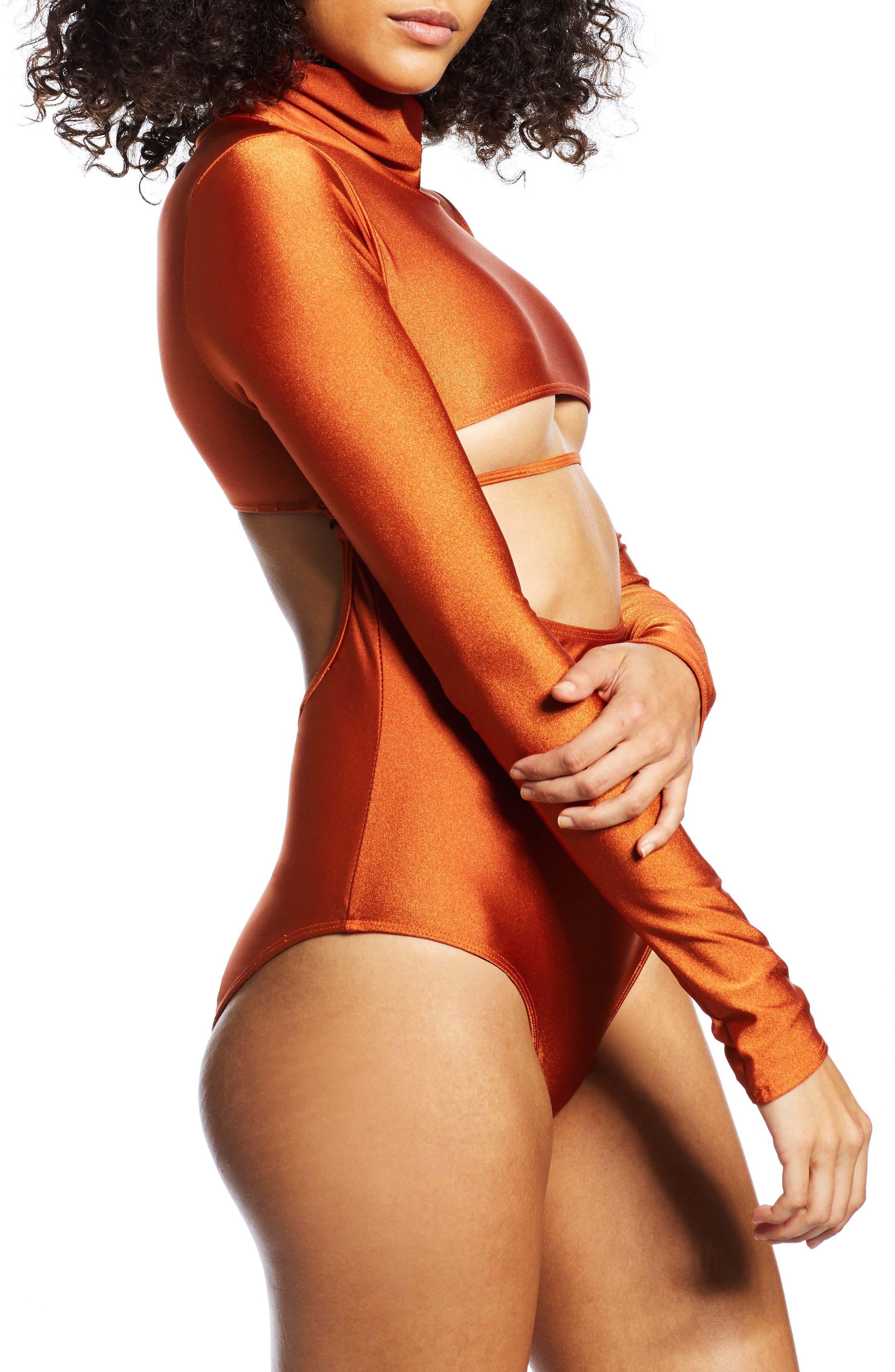 Long Sleeve Bodysuit,                             Alternate thumbnail 3, color,                             800