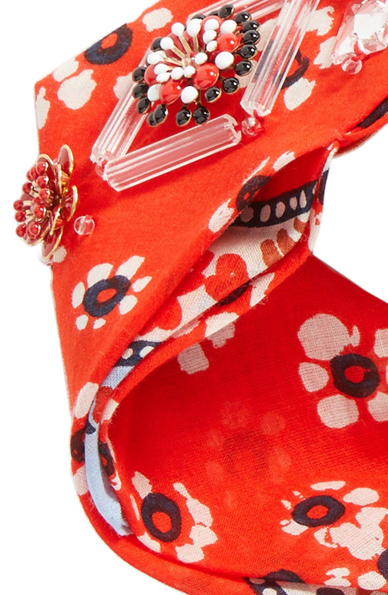 Embellished Floral Scarf,                             Alternate thumbnail 8, color,