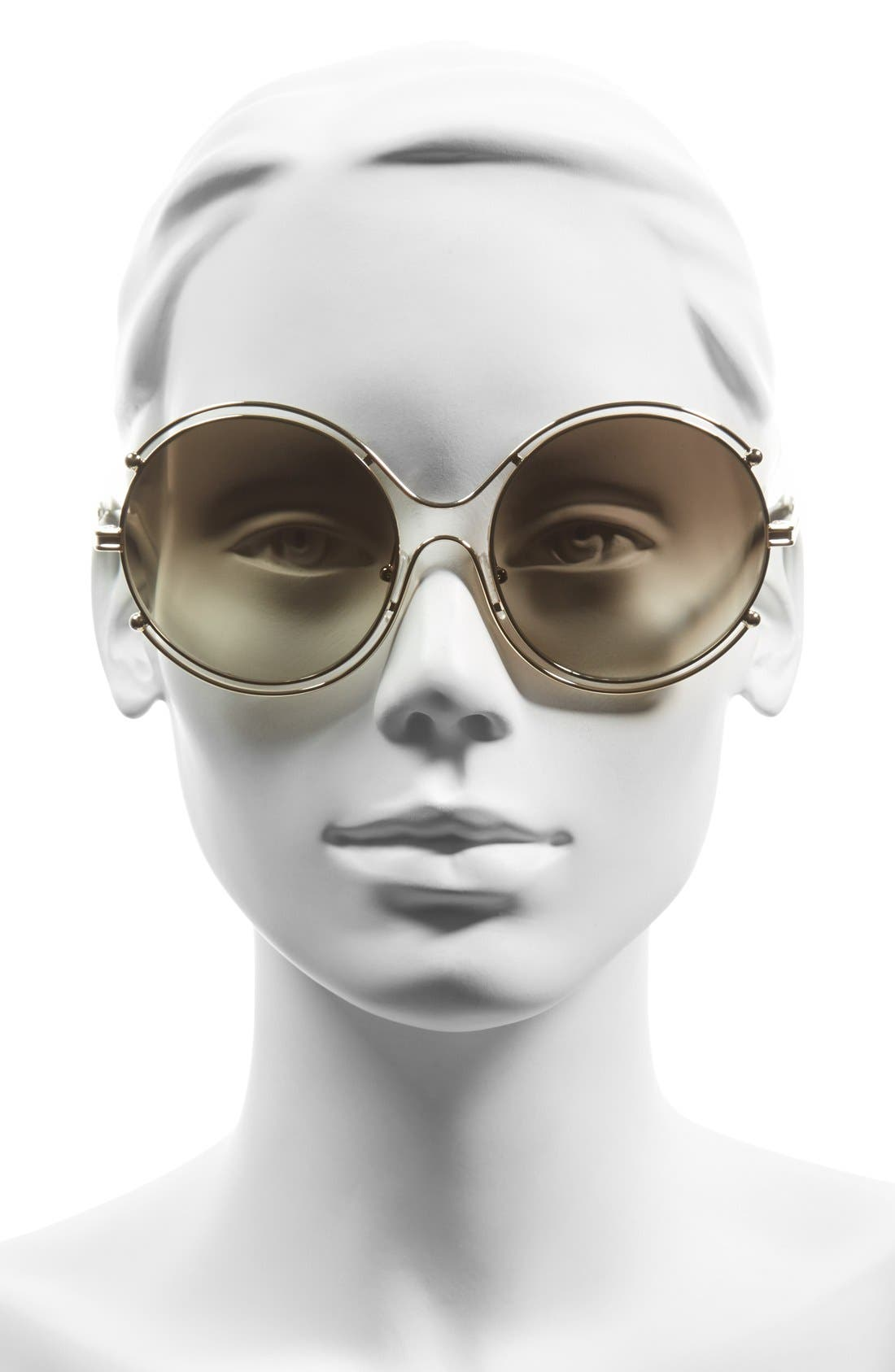 CHLOÉ,                             'Isidora' 59mm Round Sunglasses,                             Alternate thumbnail 2, color,                             710